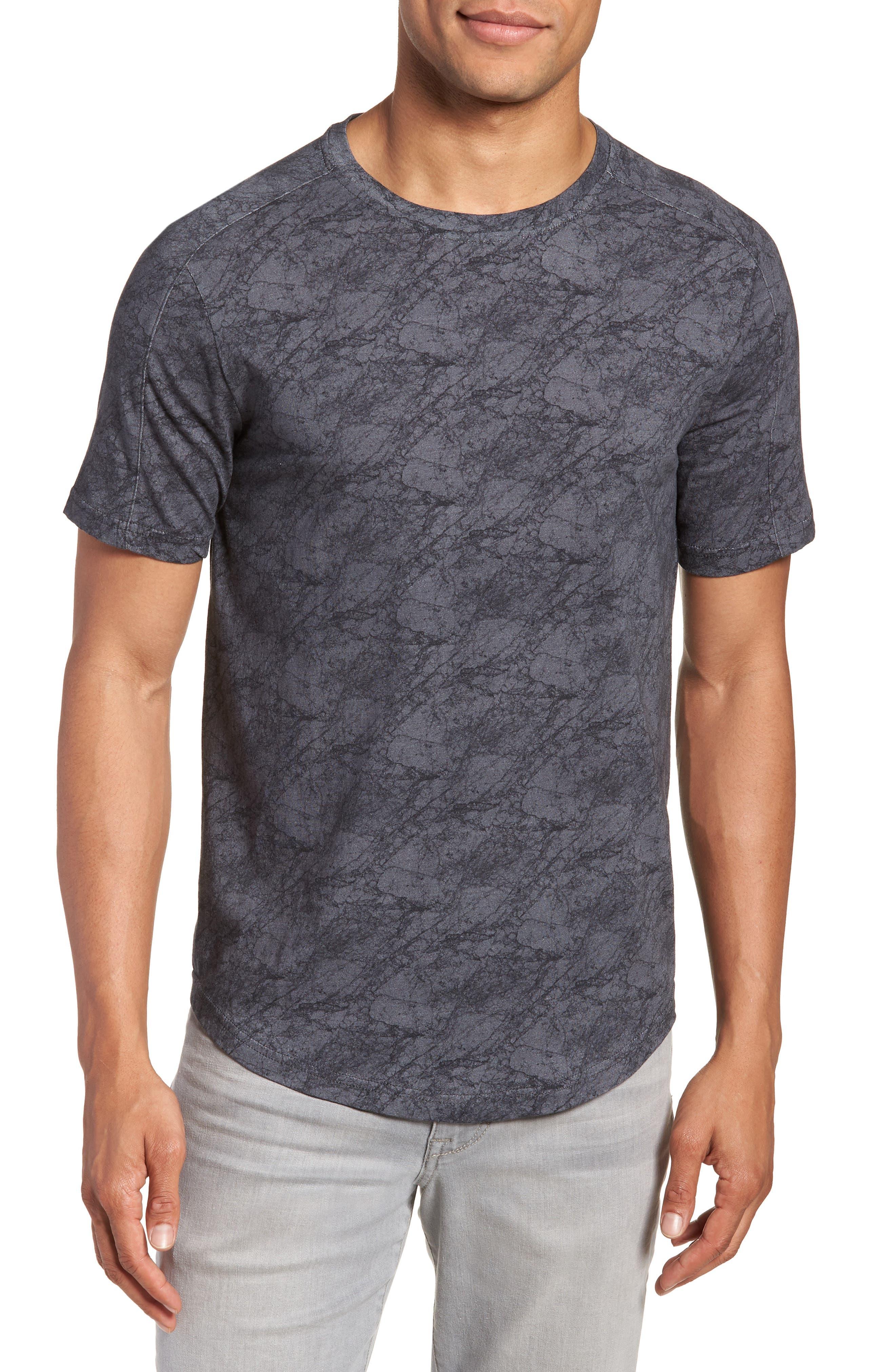 Chelsea Marble Print T-Shirt,                             Main thumbnail 1, color,                             Black