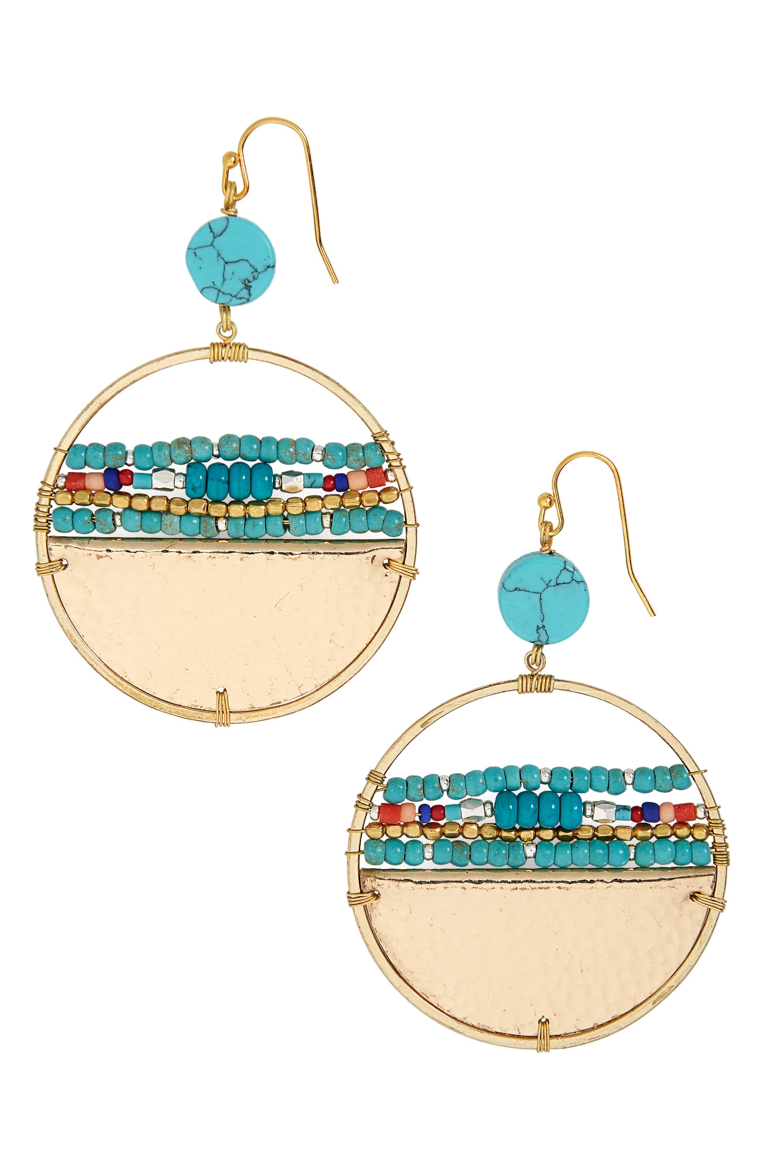 Nakamol Design Beaded Hoop Earrings