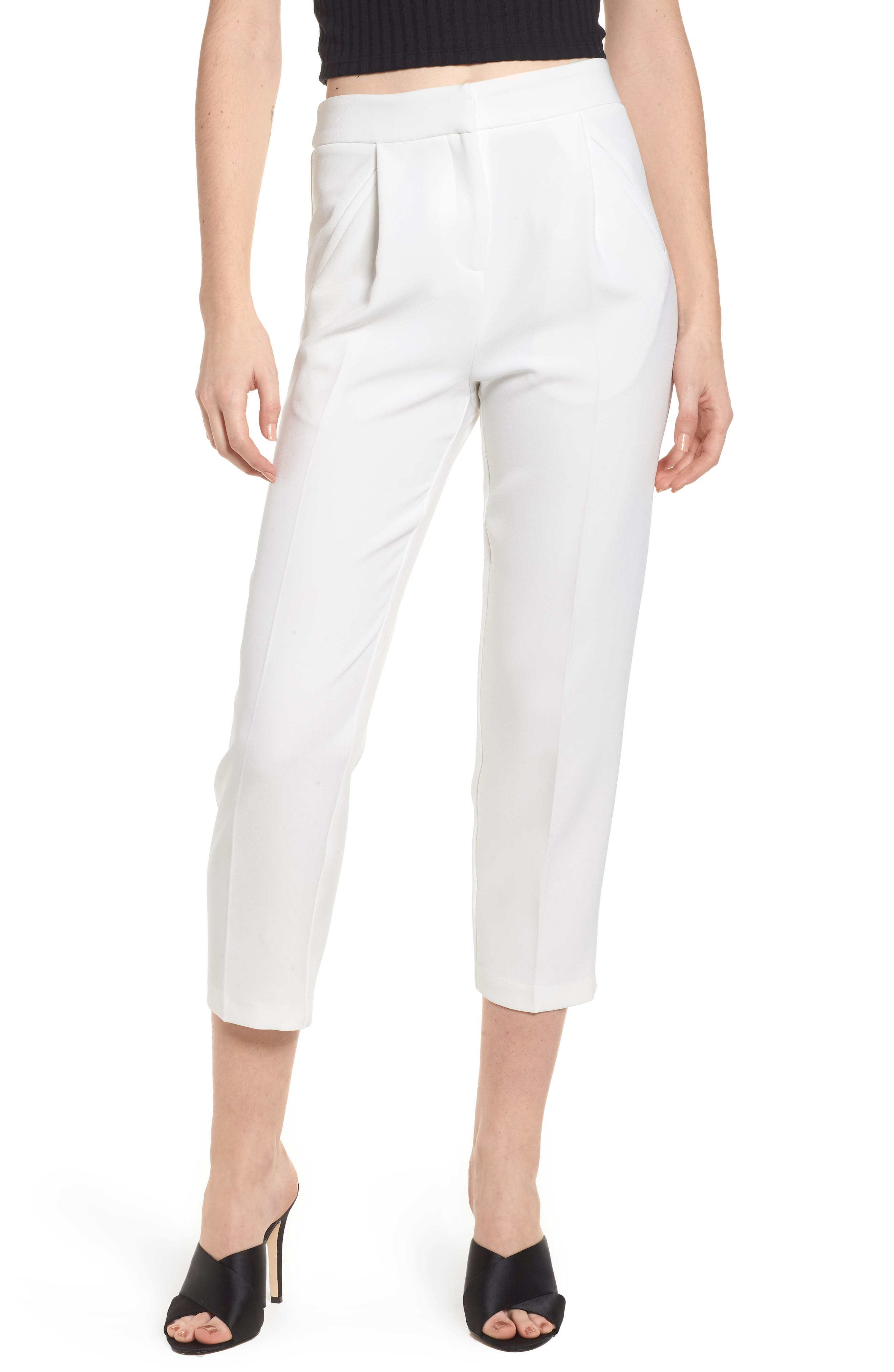 Clean Pocket Peg Trousers,                         Main,                         color, Ivory