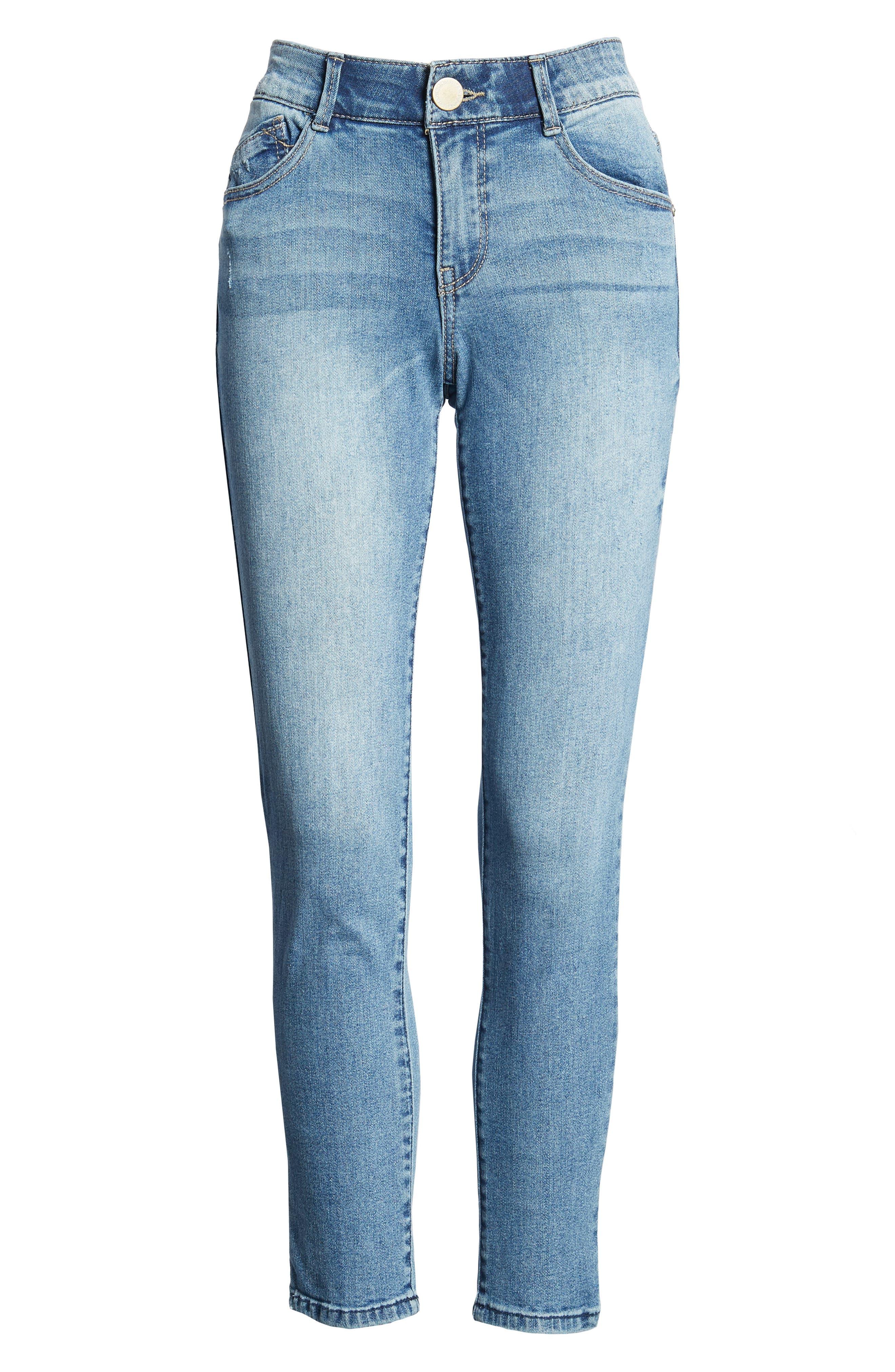 Ab-solution Ankle Skimmer Skinny Jeans Regular & Petite,                             Alternate thumbnail 6, color,                             Light Blue