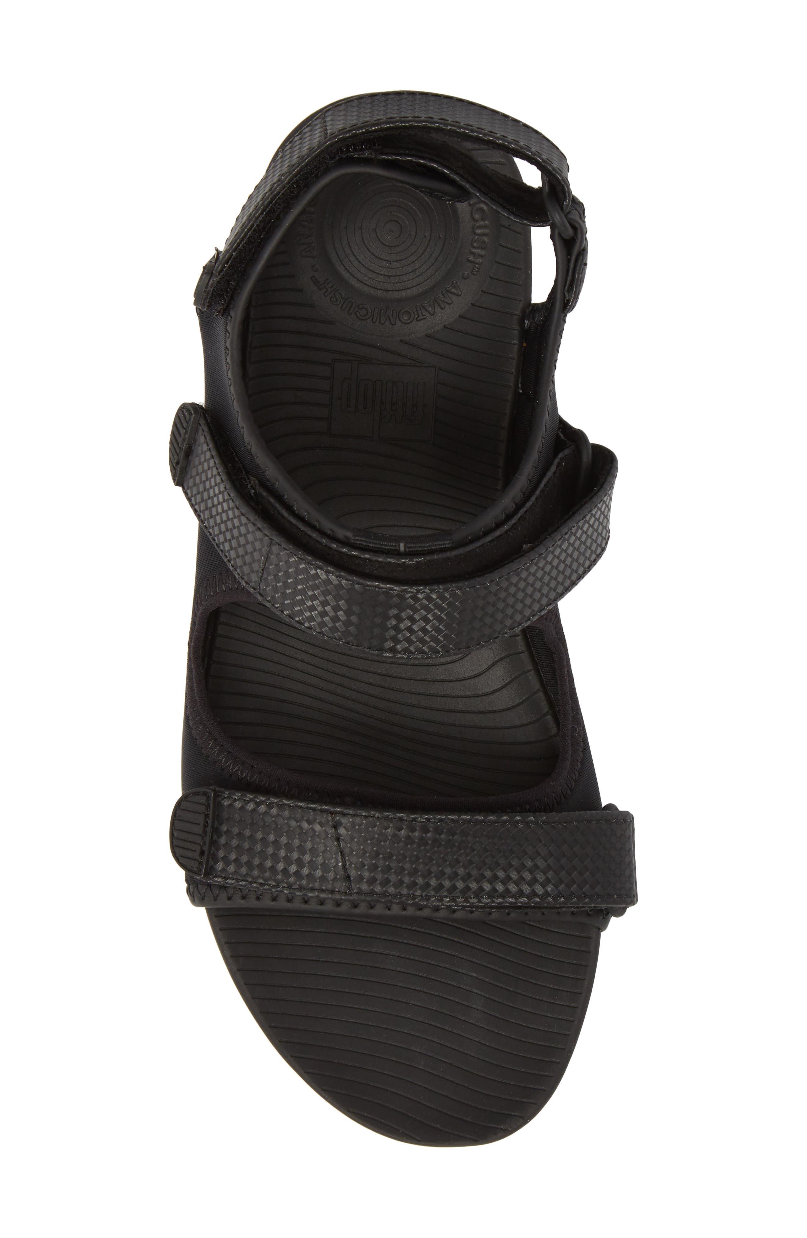 FitfFlop Neoflex<sup>™</sup> Back Strap Sandal,                             Alternate thumbnail 5, color,                             Black Leather