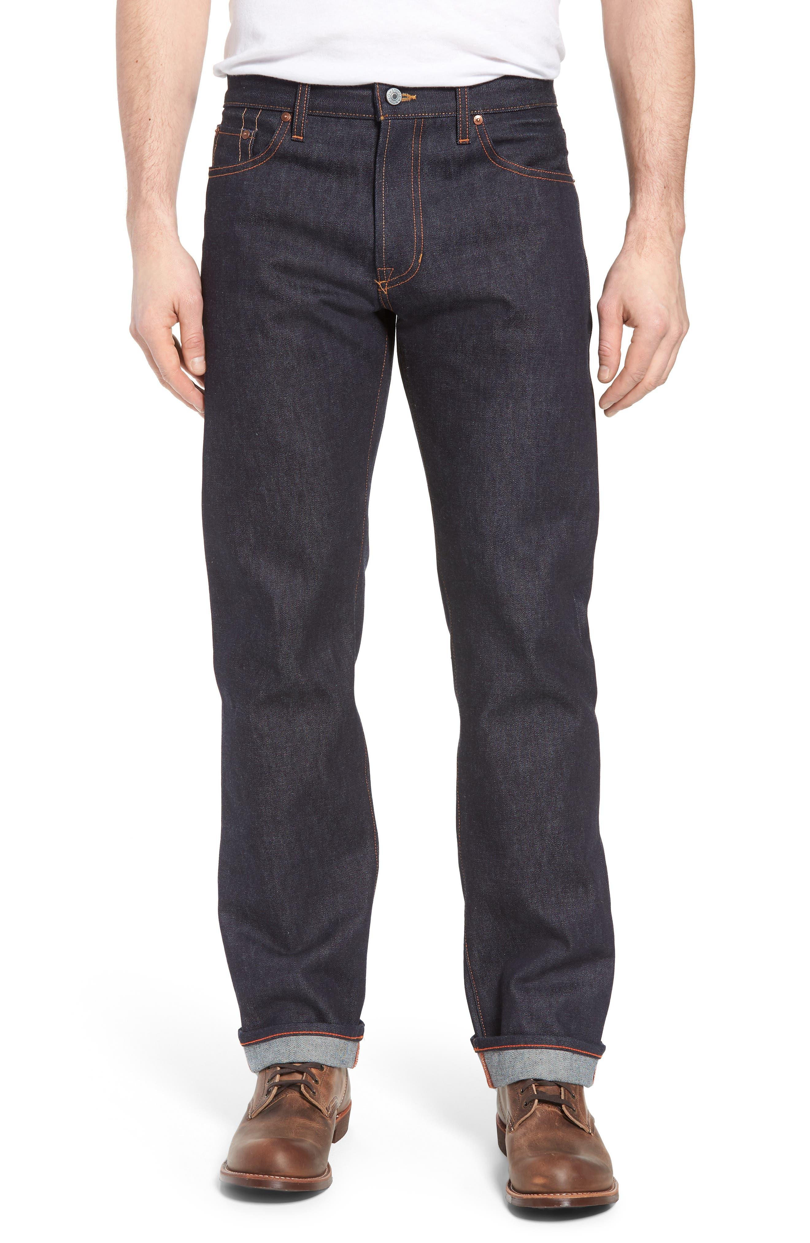 Rocker Straight Leg Jeans,                         Main,                         color, Raw