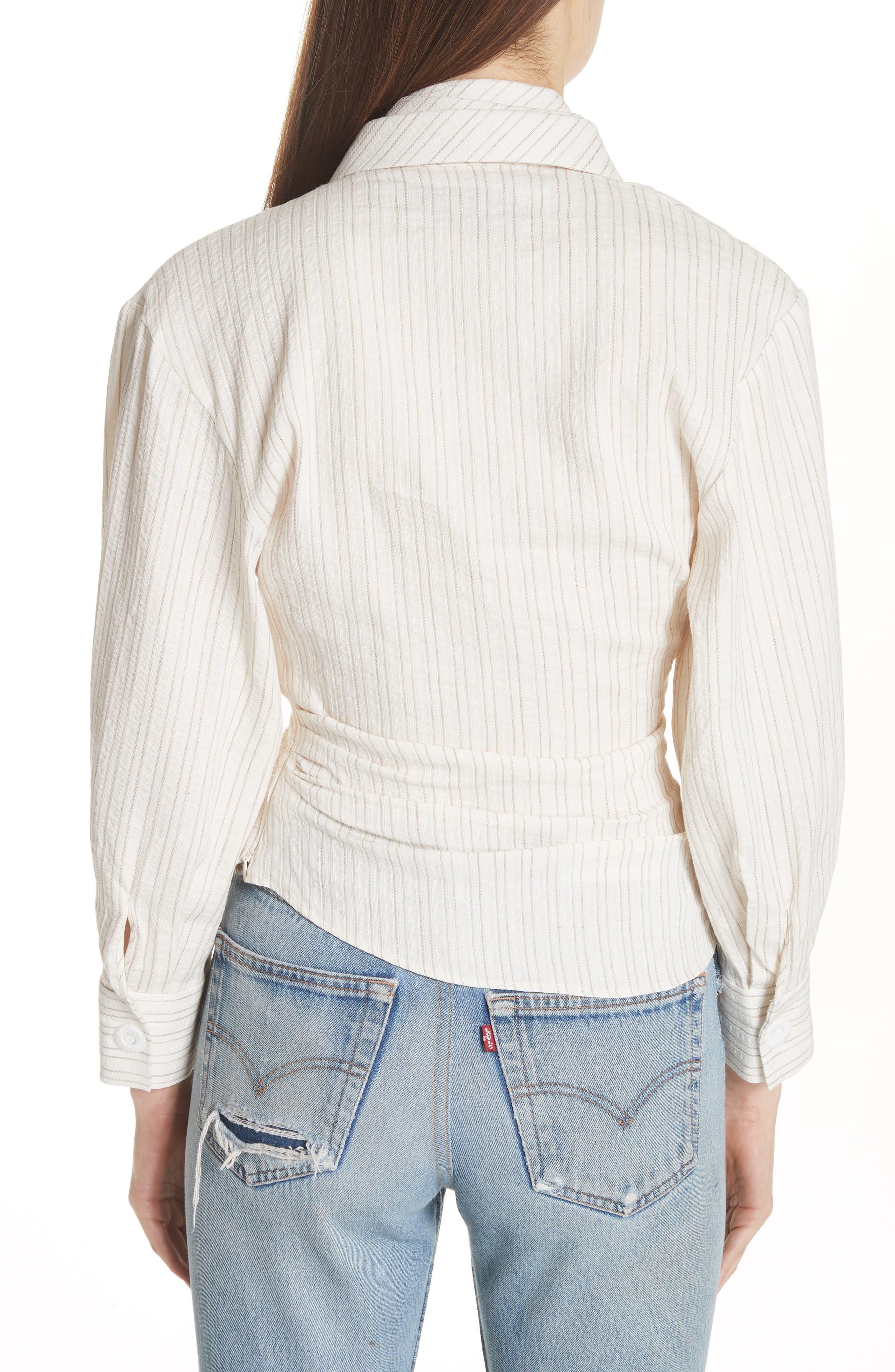 La Chemise Belem Shirt,                             Alternate thumbnail 2, color,                             Beige Striped