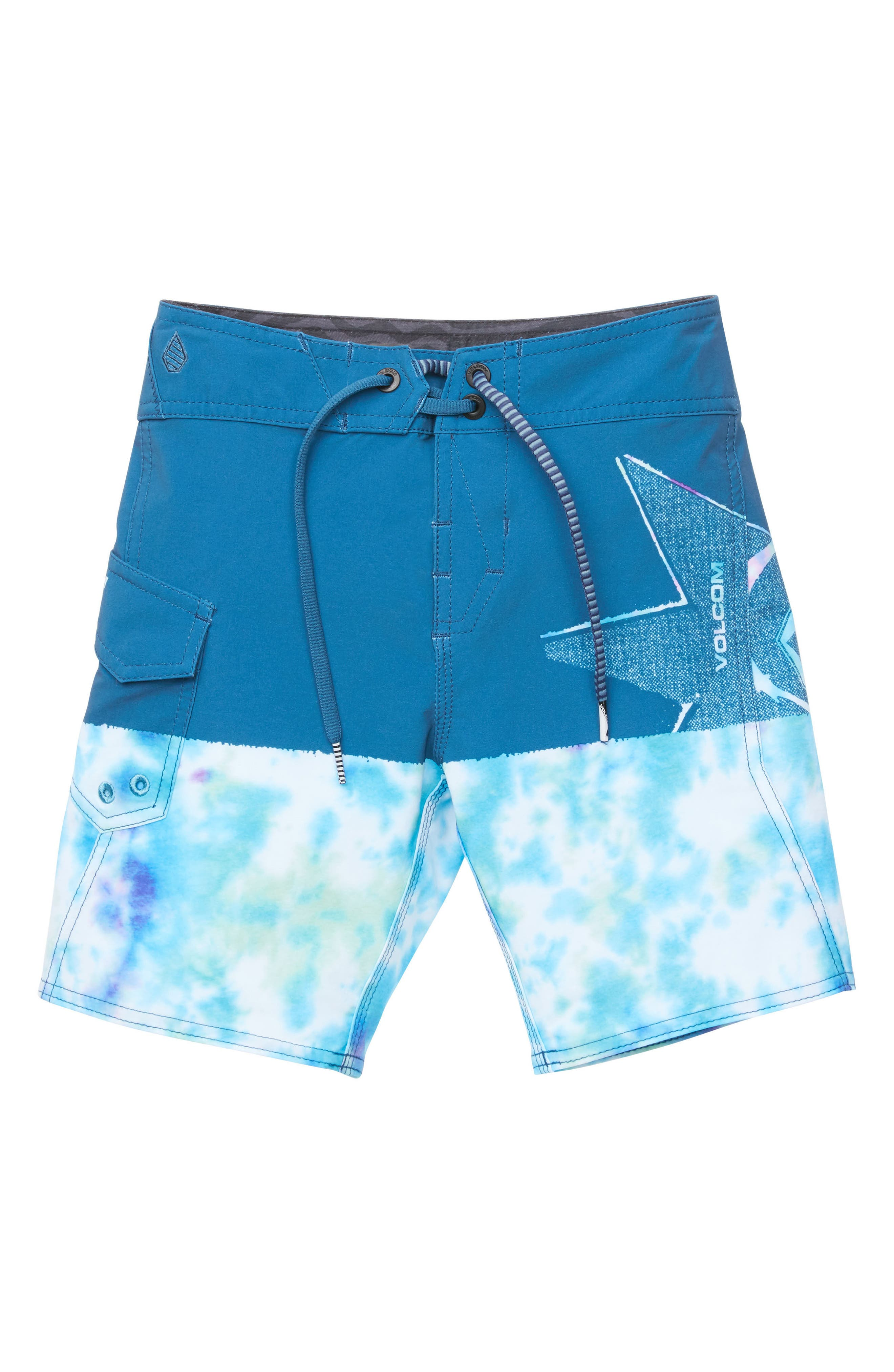 Lido Block Mod Board Shorts,                             Main thumbnail 1, color,                             Multi