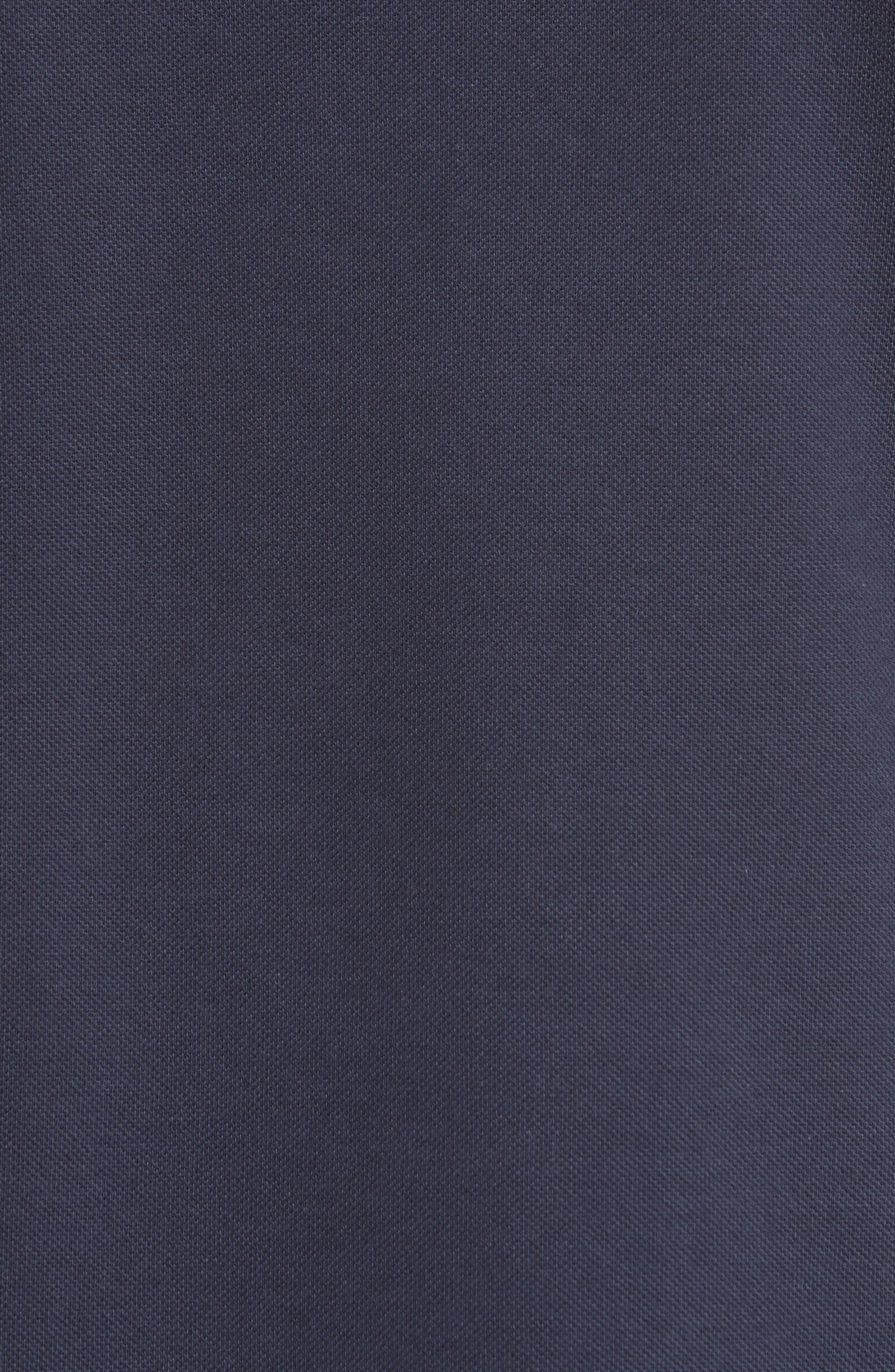 + Champion Tipped Piqué Polo,                             Alternate thumbnail 5, color,                             Navy