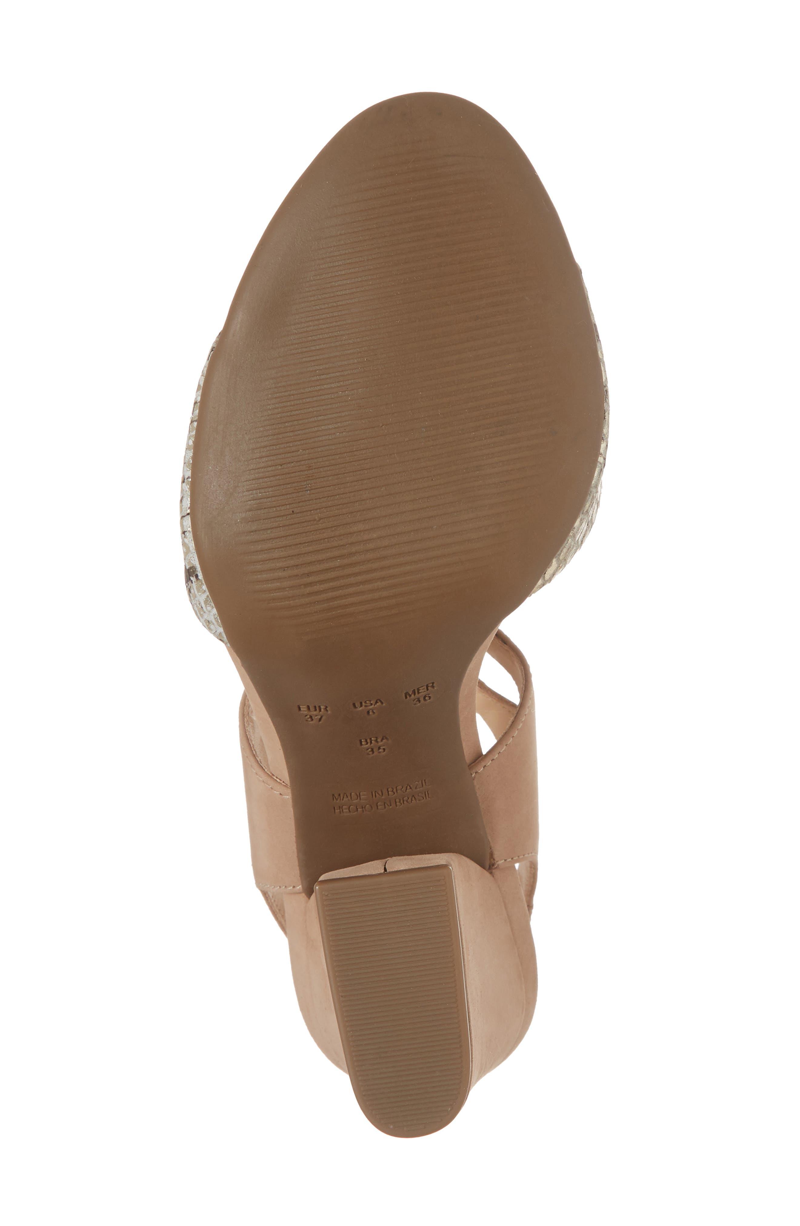 Kaira Ankle Wrap Sandal,                             Alternate thumbnail 6, color,                             Snake Print Leather