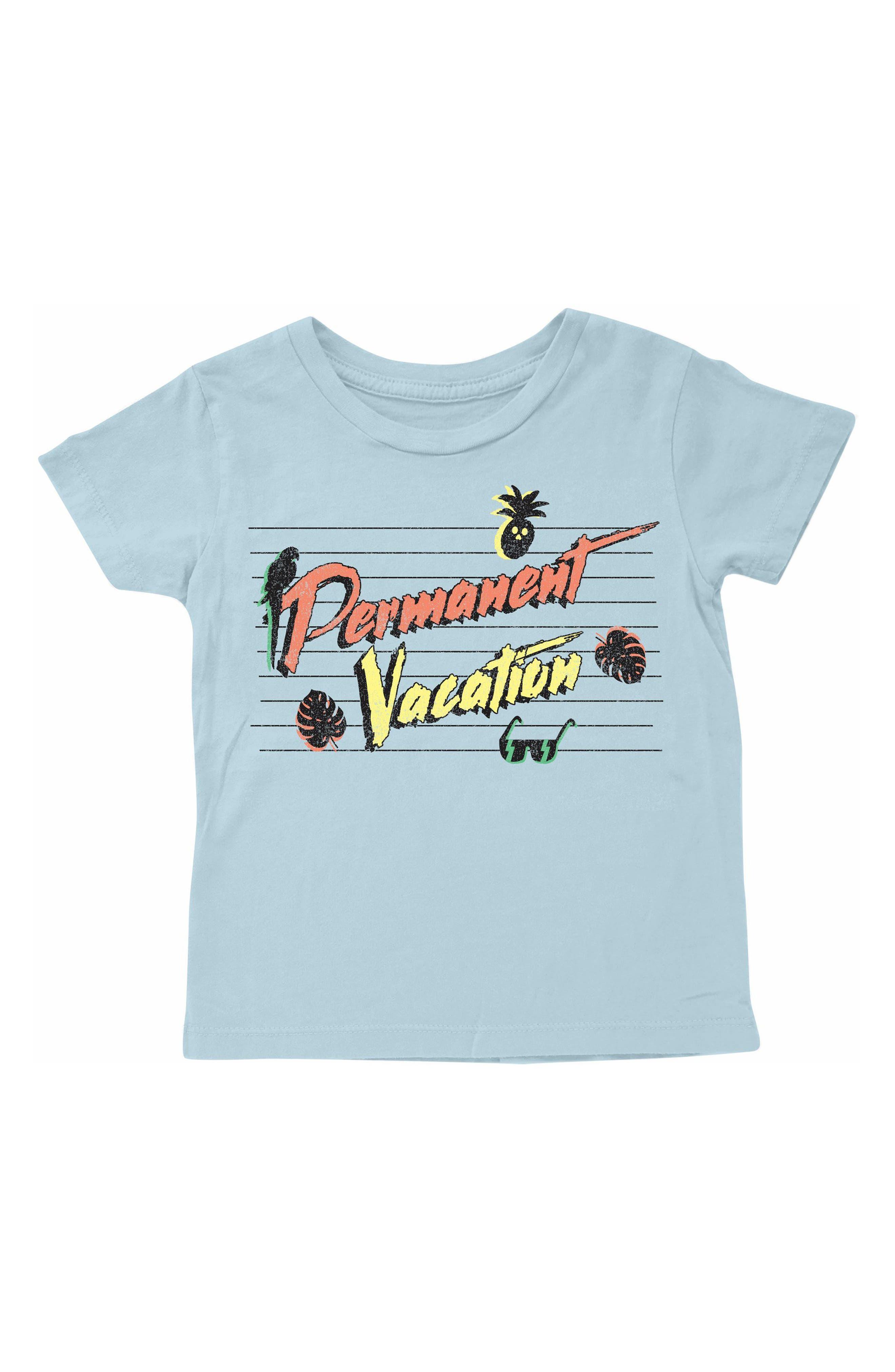 Permanent Vacation T-Shirt,                             Main thumbnail 1, color,                             Light Blue