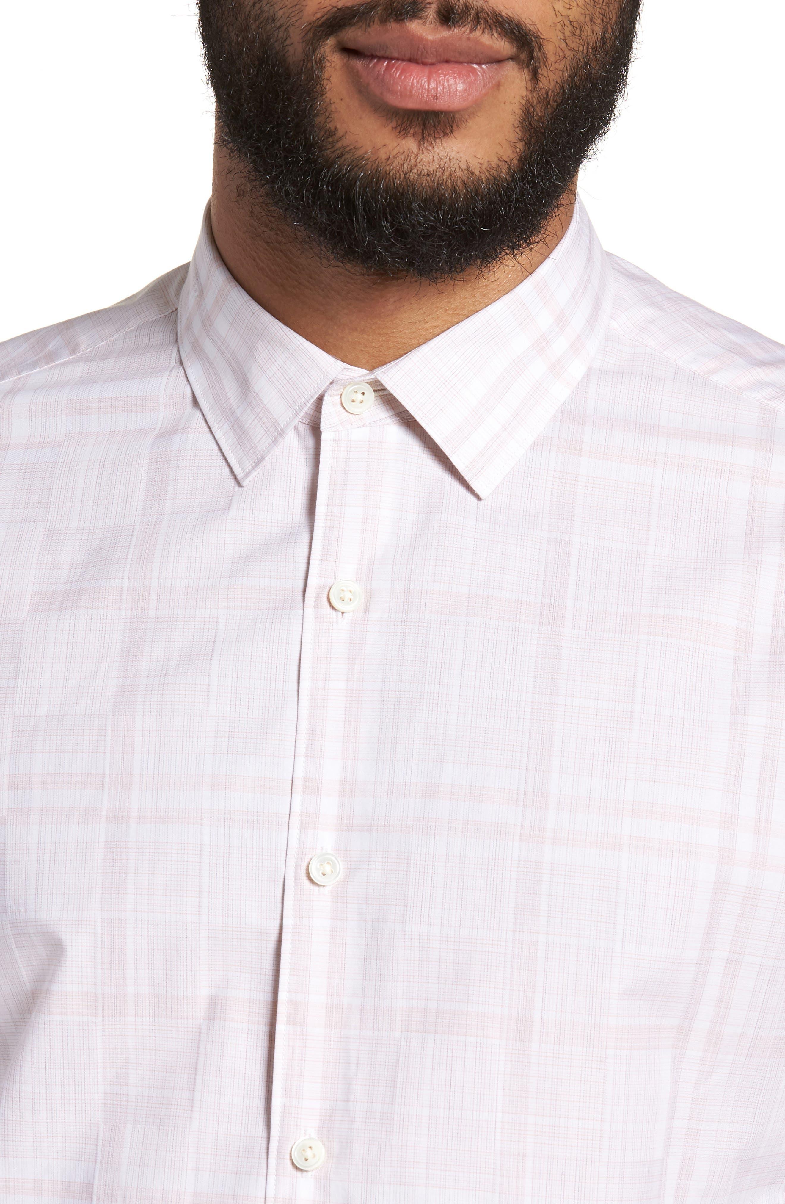 Murrary Dada Slim Fit Plaid Sport Shirt,                             Alternate thumbnail 4, color,                             Lotus Multi