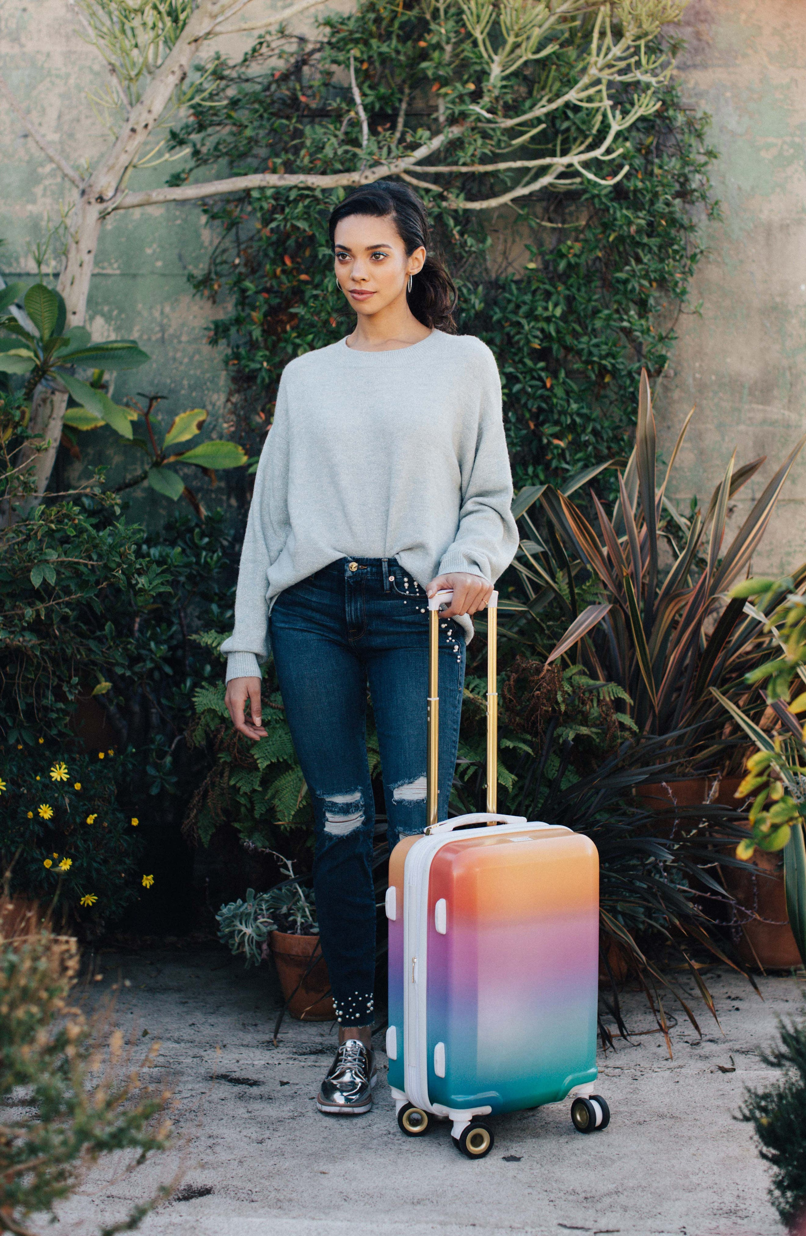 x Oh Joy! 28-Inch & 20-Inch Hardshell Spinner Suitcase & Carry-On Set,                             Alternate thumbnail 3, color,                             Sunset