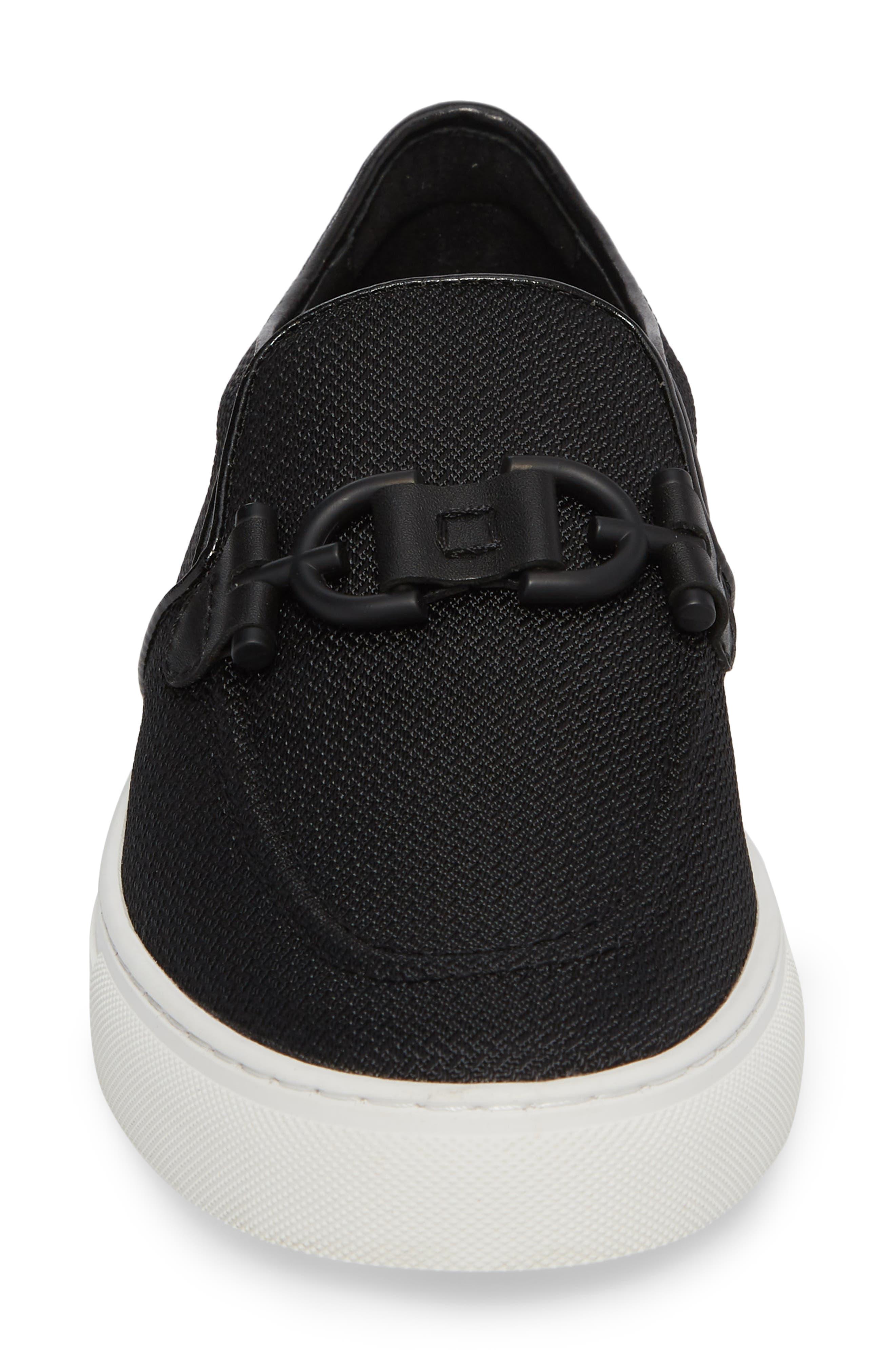 Andor Bit Slip-On Sneaker,                             Alternate thumbnail 4, color,                             Black Mesh