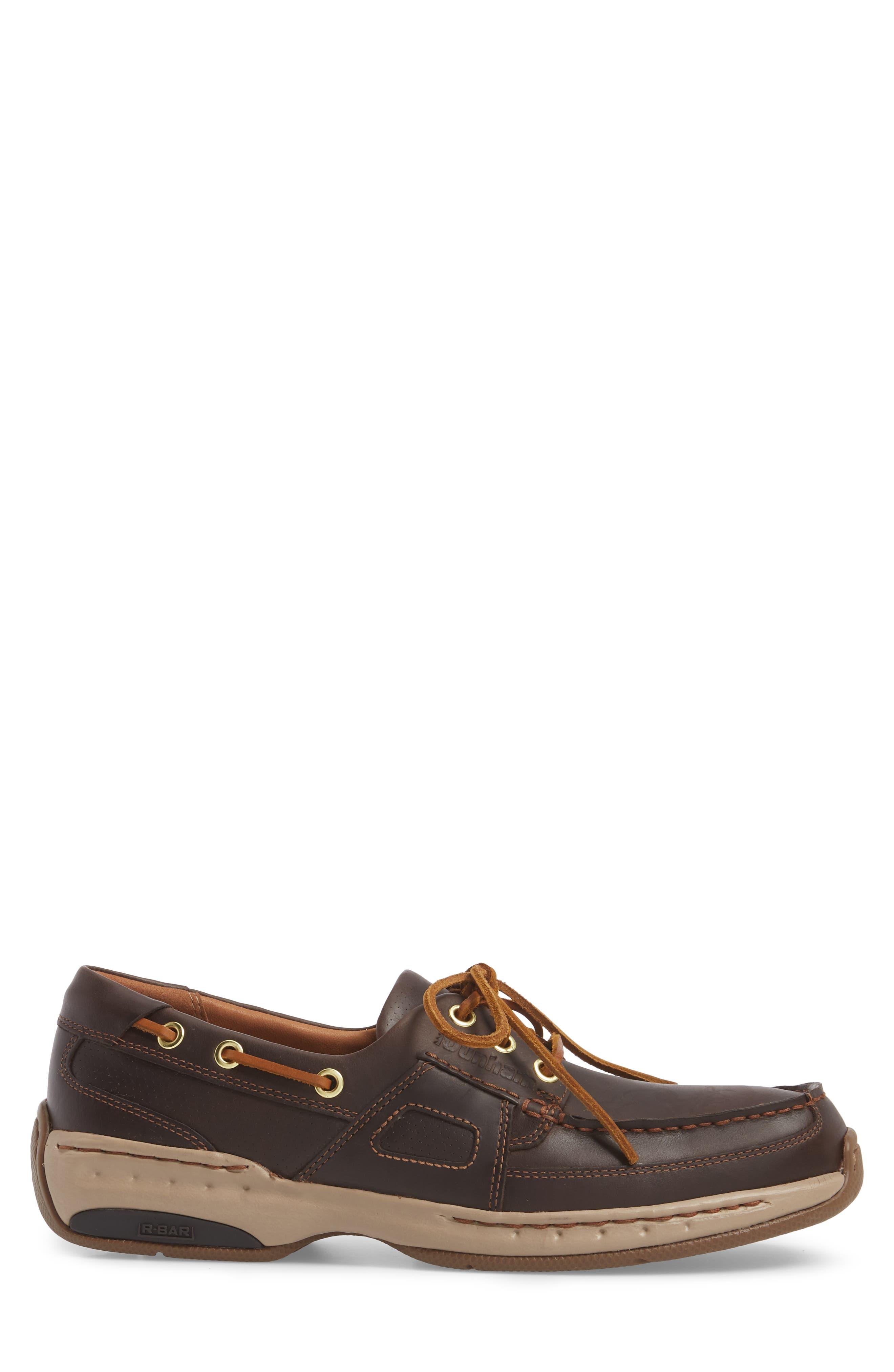LTD Water Resistant Boat Shoe,                             Alternate thumbnail 3, color,                             Tan Leather