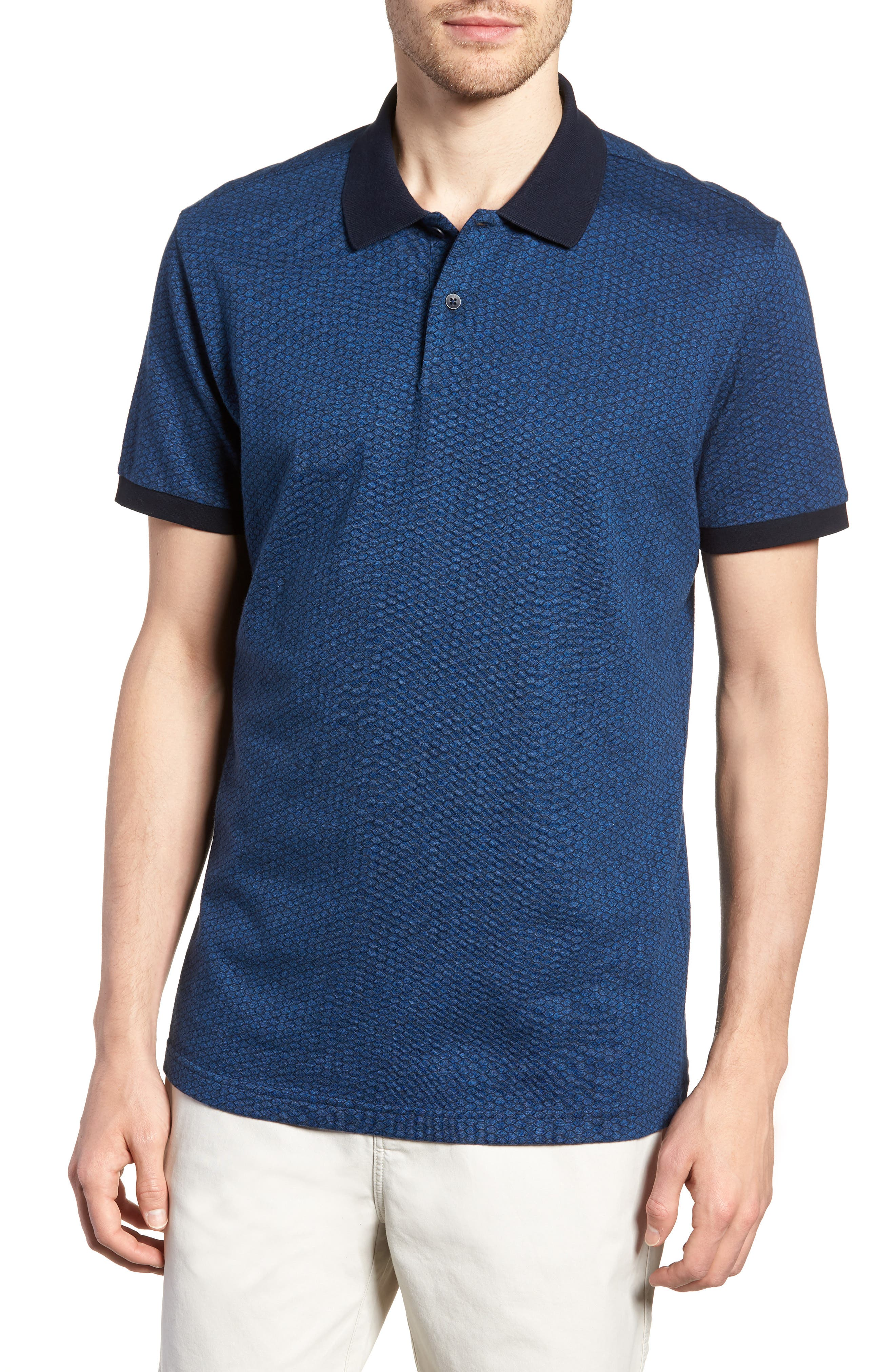 Mantle Hill Sports Fit Polo,                         Main,                         color, Ocean