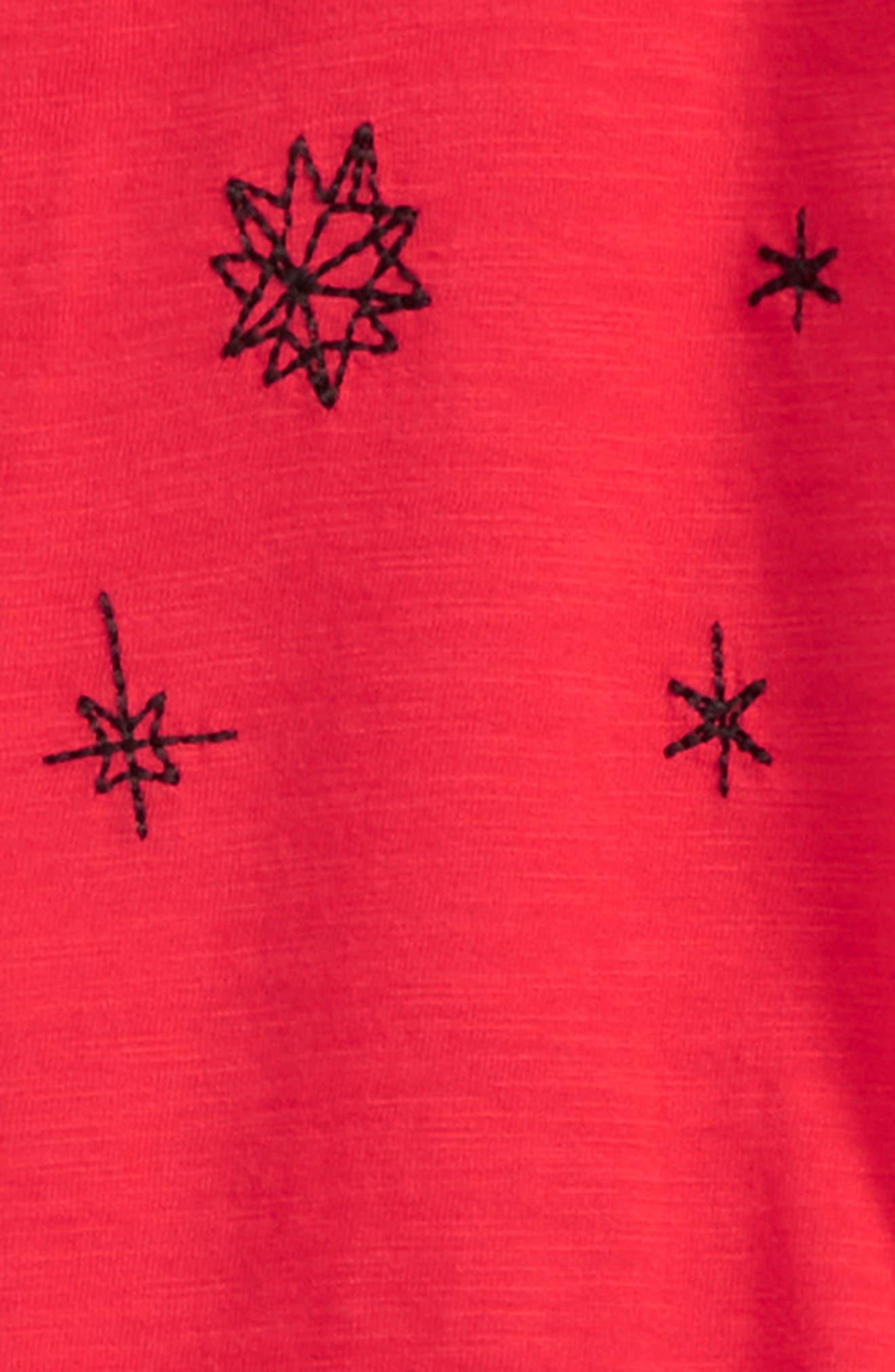 Peplum Tee & Shorts Set,                             Alternate thumbnail 3, color,                             Black Vintage