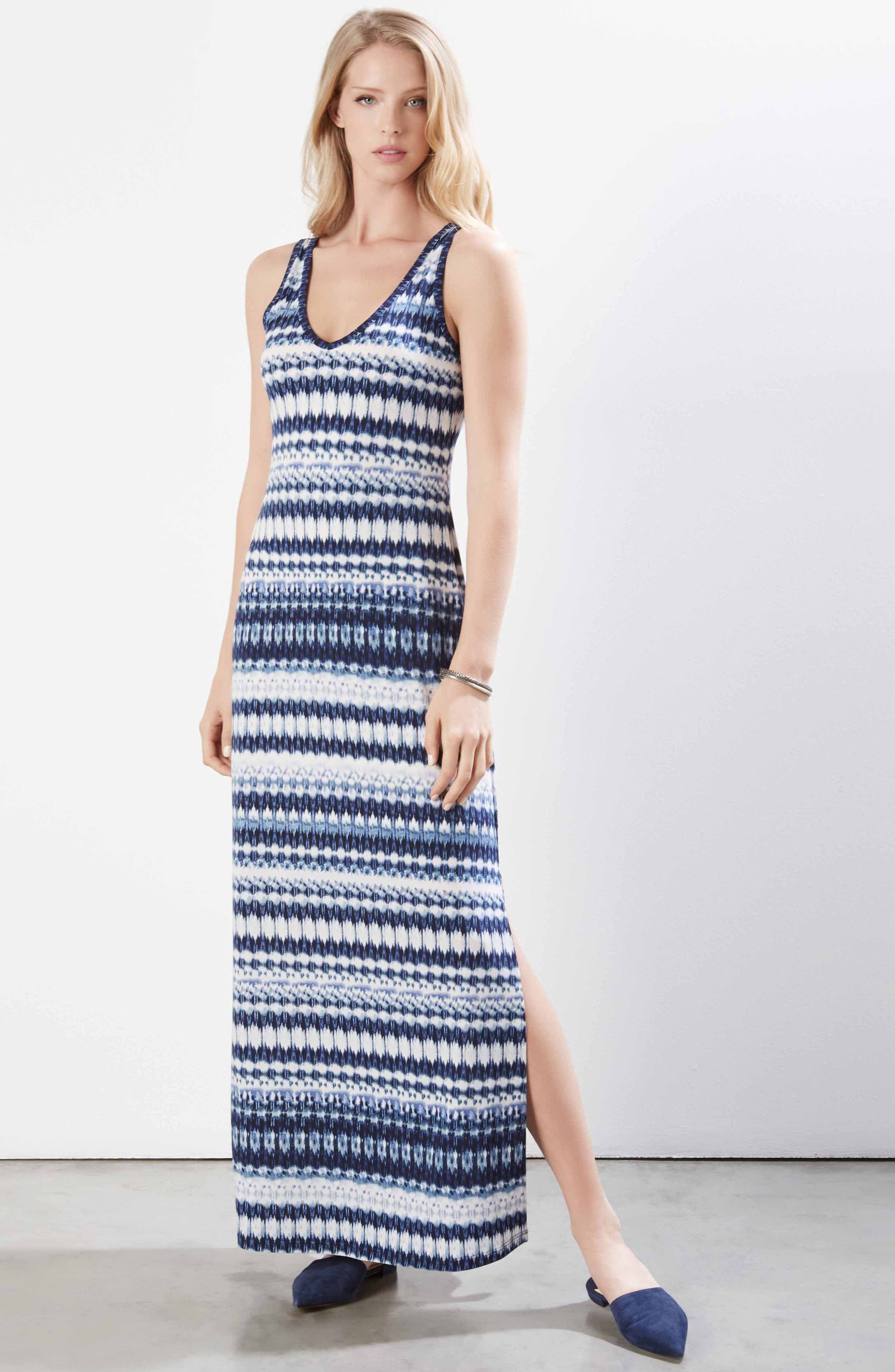 Side Slit Maxi Dress,                             Alternate thumbnail 3, color,