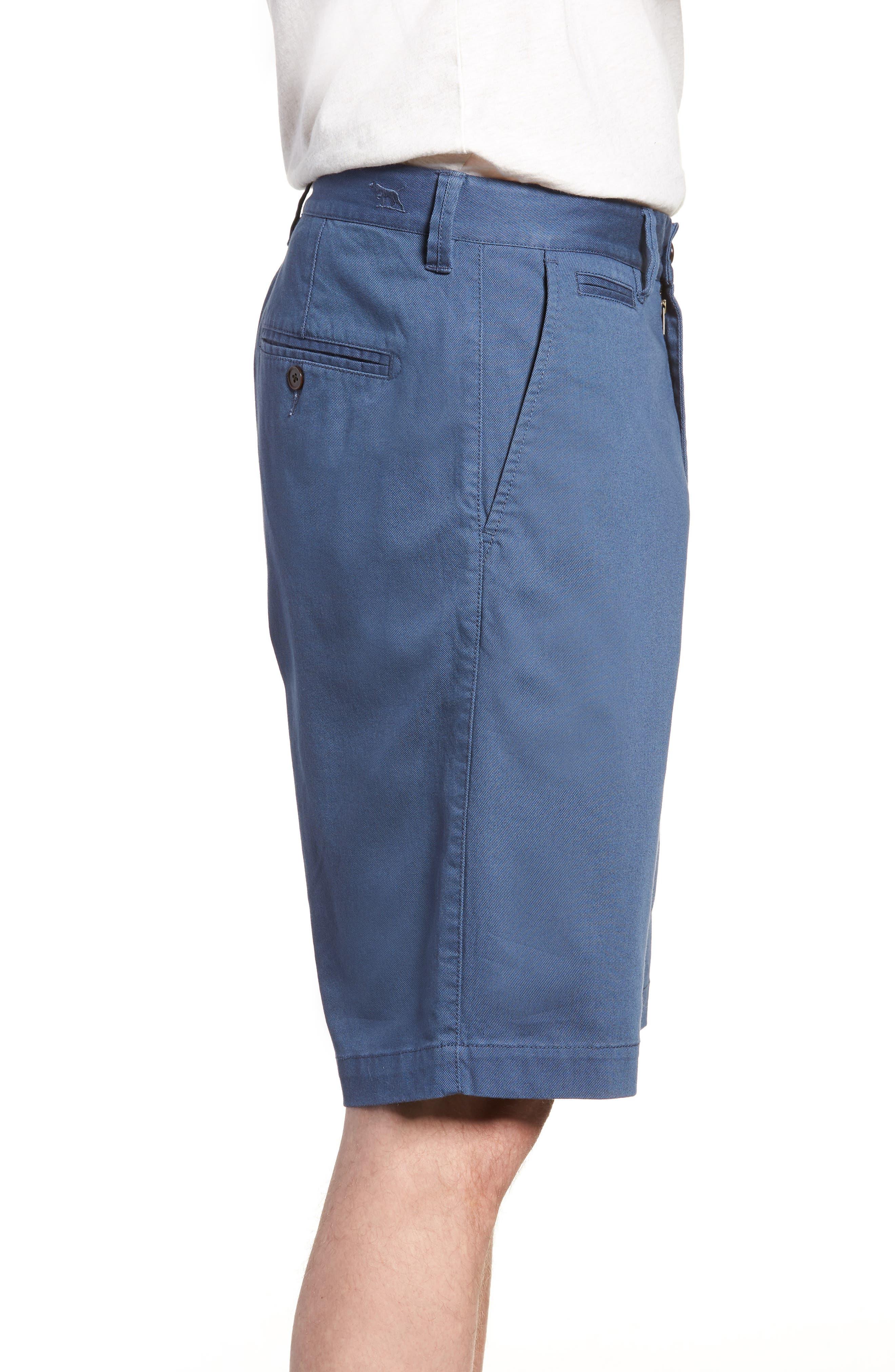 Driving Creek Regular Fit Flat Front Shorts,                             Alternate thumbnail 3, color,                             Dusk