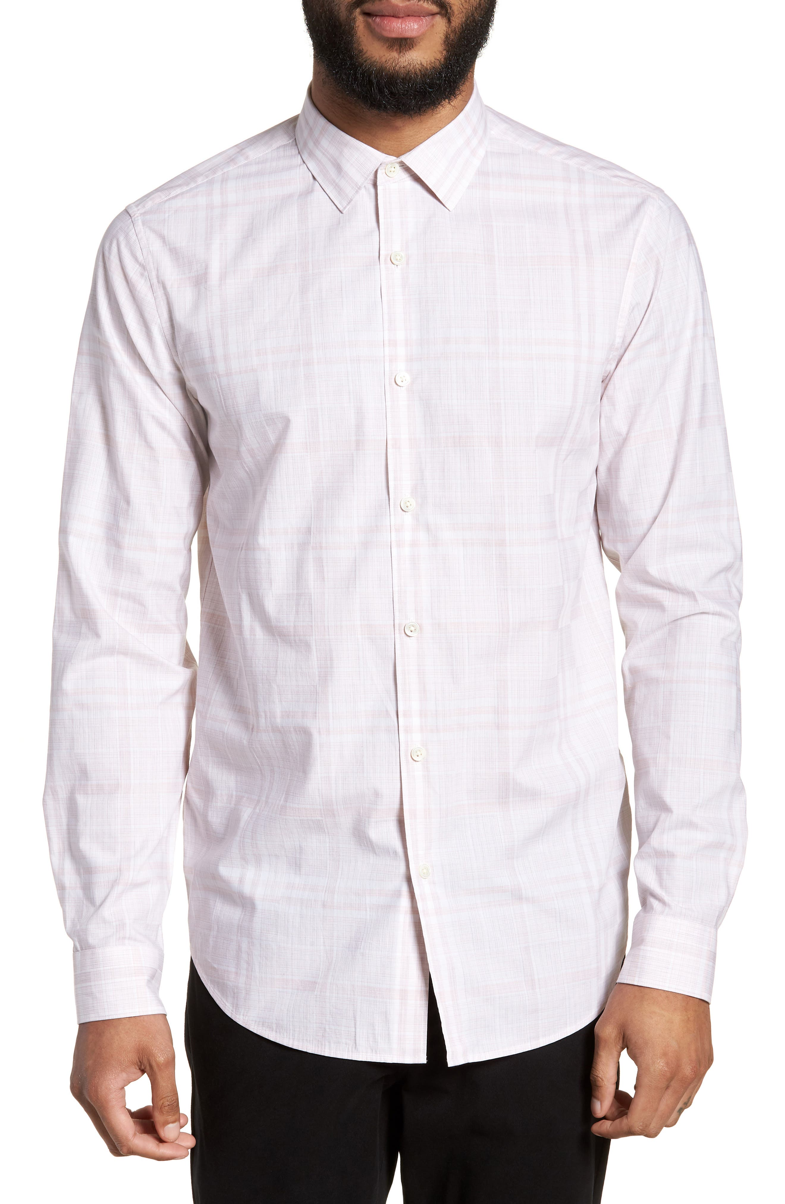 Murrary Dada Slim Fit Plaid Sport Shirt,                         Main,                         color, Lotus Multi