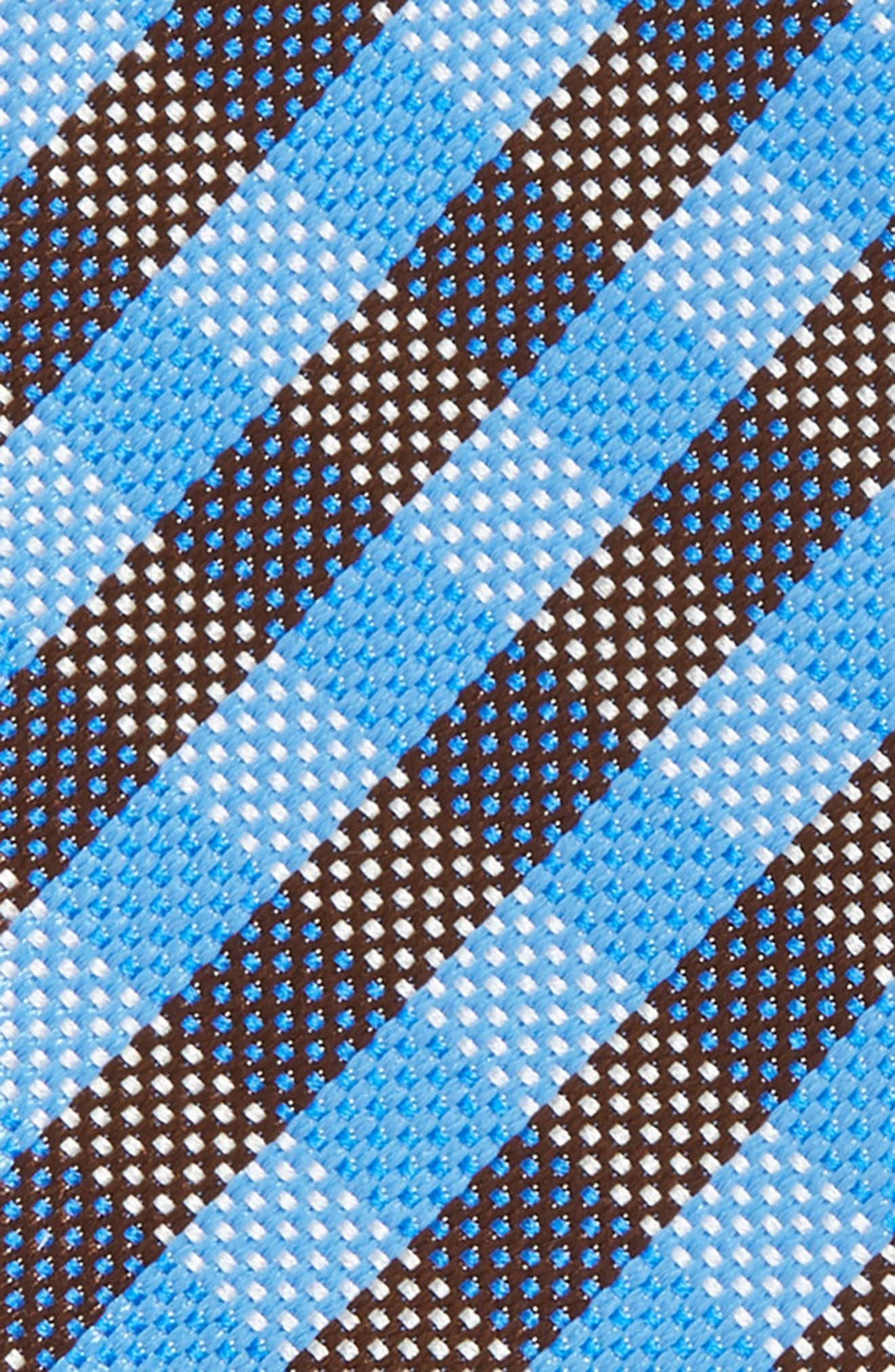 Check Silk Bow Tie,                             Alternate thumbnail 3, color,                             Blue