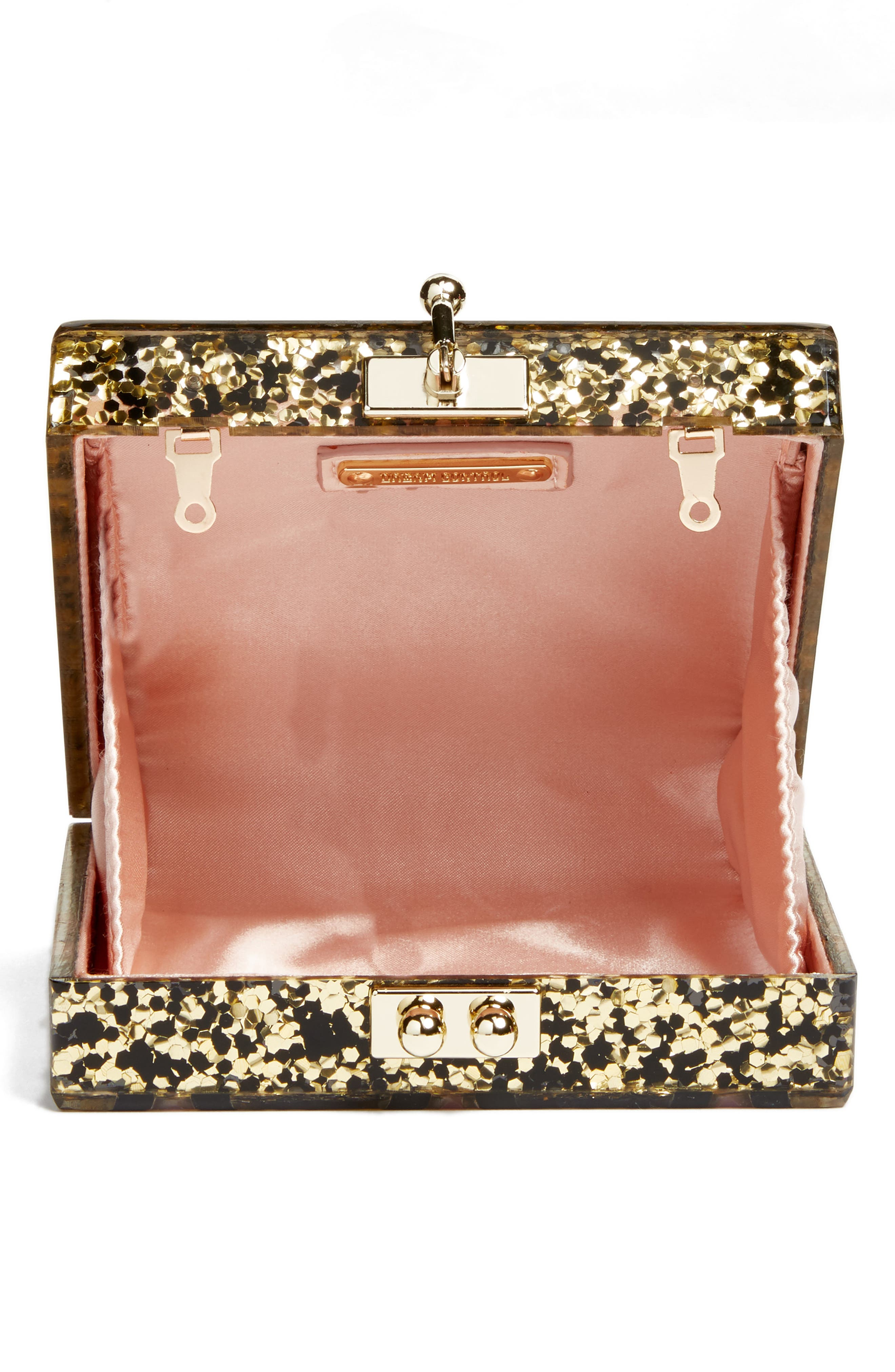Alexa Sequin Box Clutch,                             Alternate thumbnail 4, color,                             Gold Multi