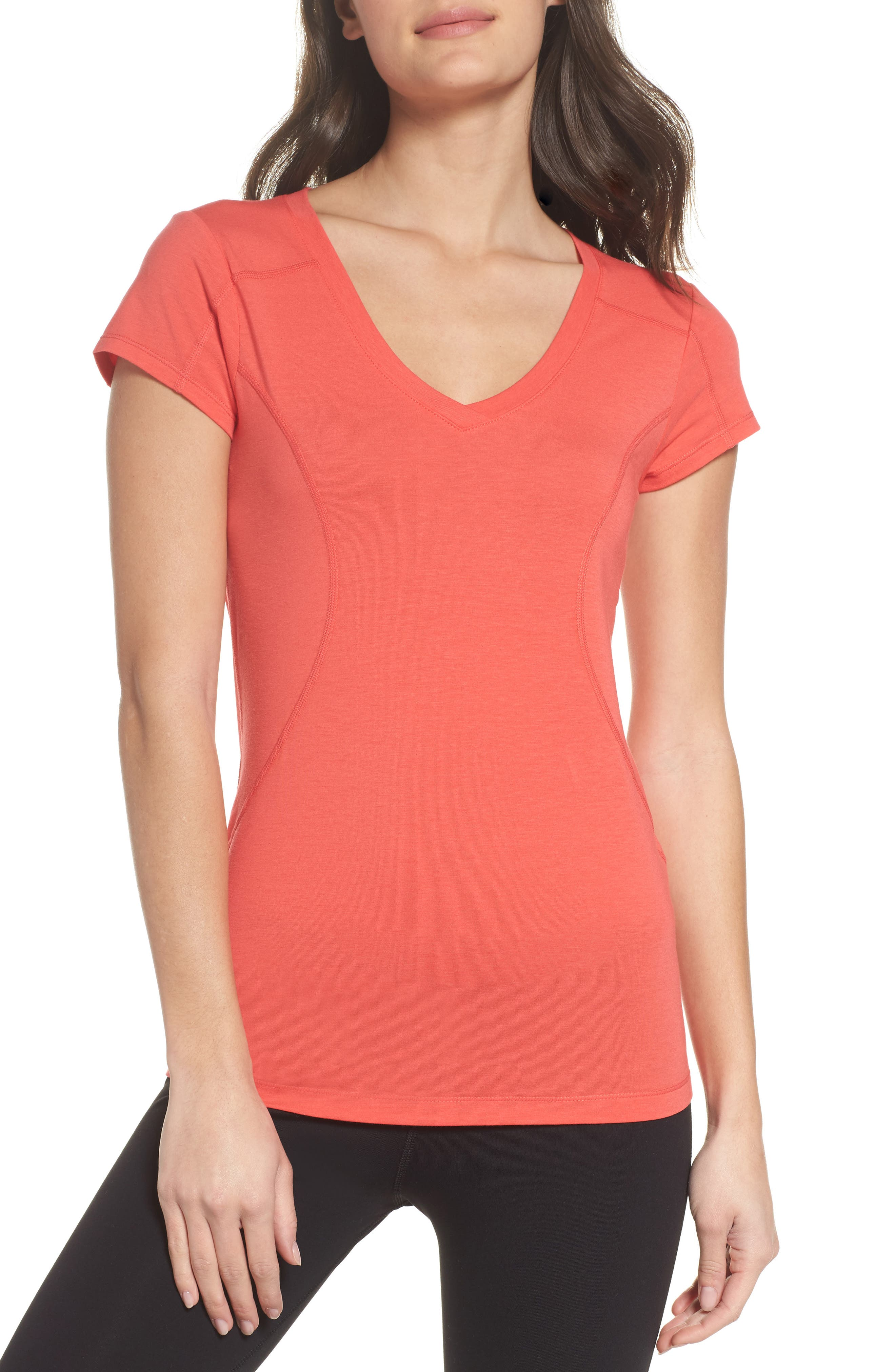Z Tee,                         Main,                         color, Red Hibiscus