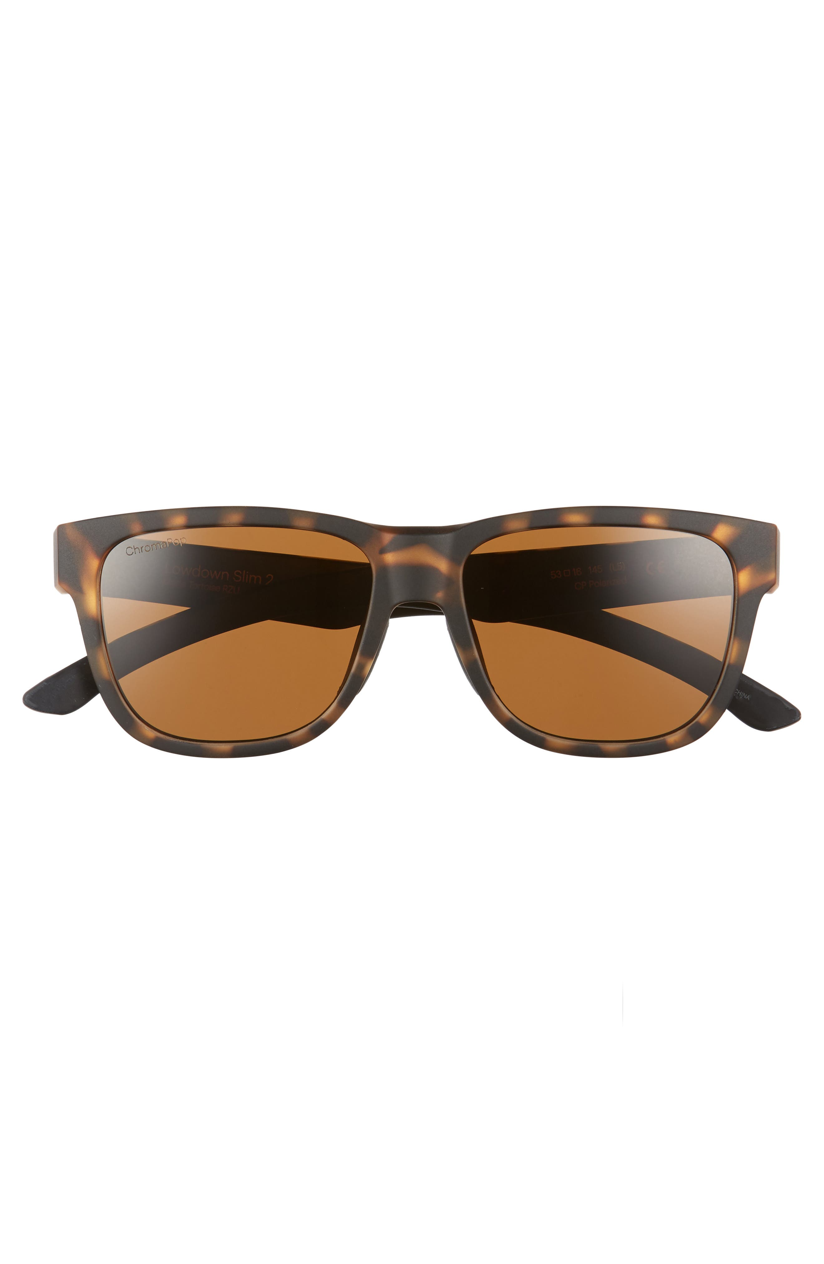 Lowdown Slim 2 53mm ChromaPop<sup>™</sup> Square Sunglasses,                             Alternate thumbnail 3, color,                             Matte Tortoise
