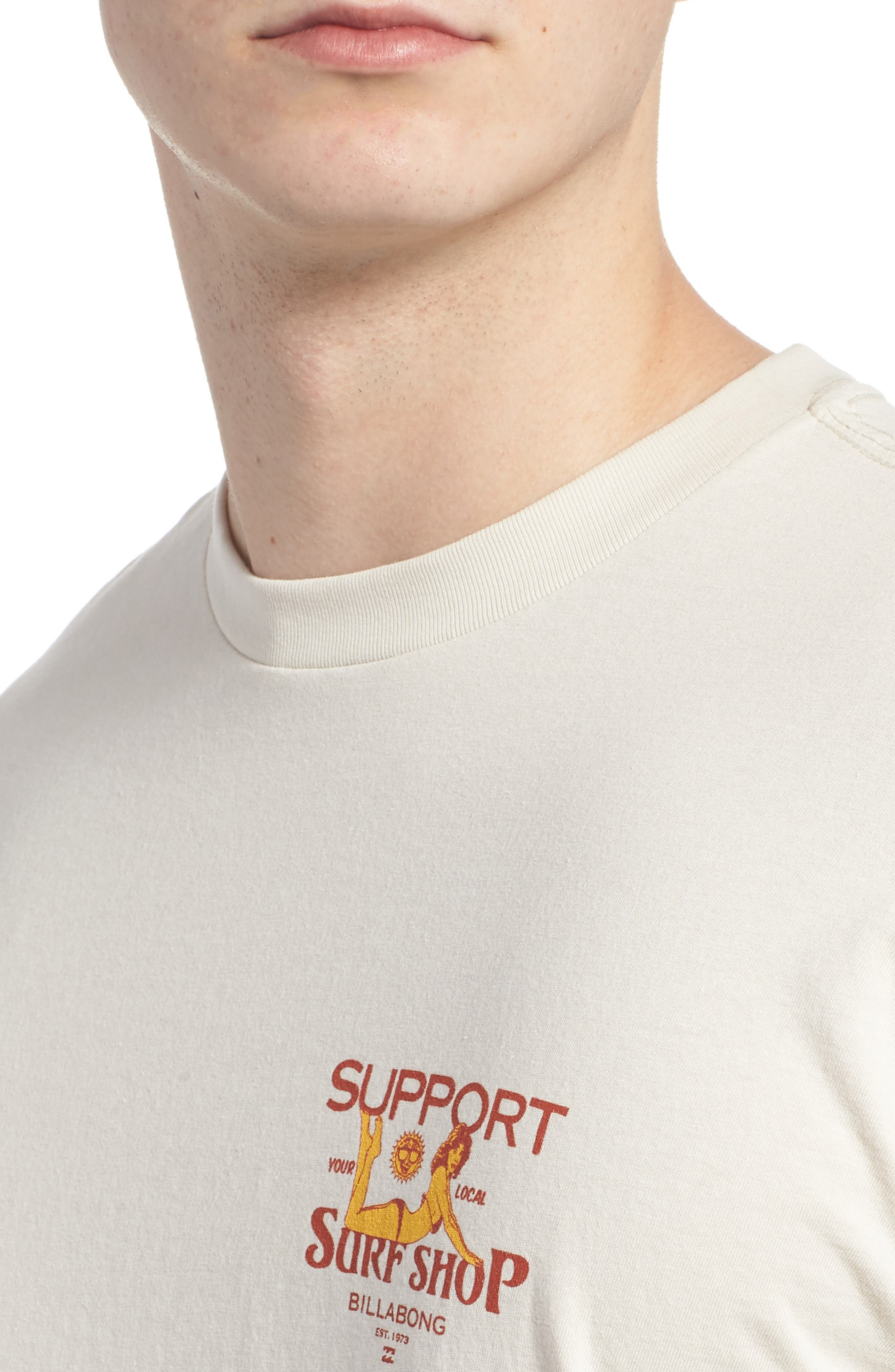 Support Graphic T-Shirt,                             Alternate thumbnail 4, color,                             Rock