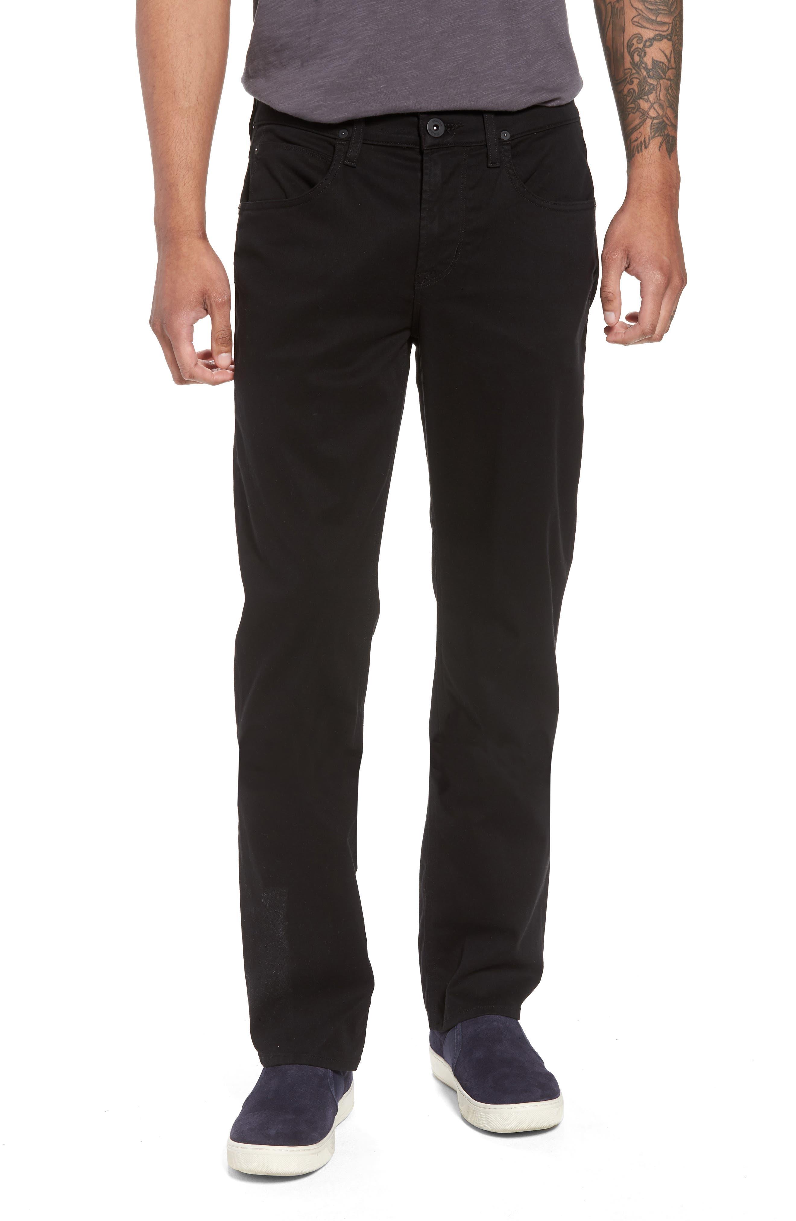 Byron Slim Straight Leg Jeans,                             Main thumbnail 1, color,                             Blackened