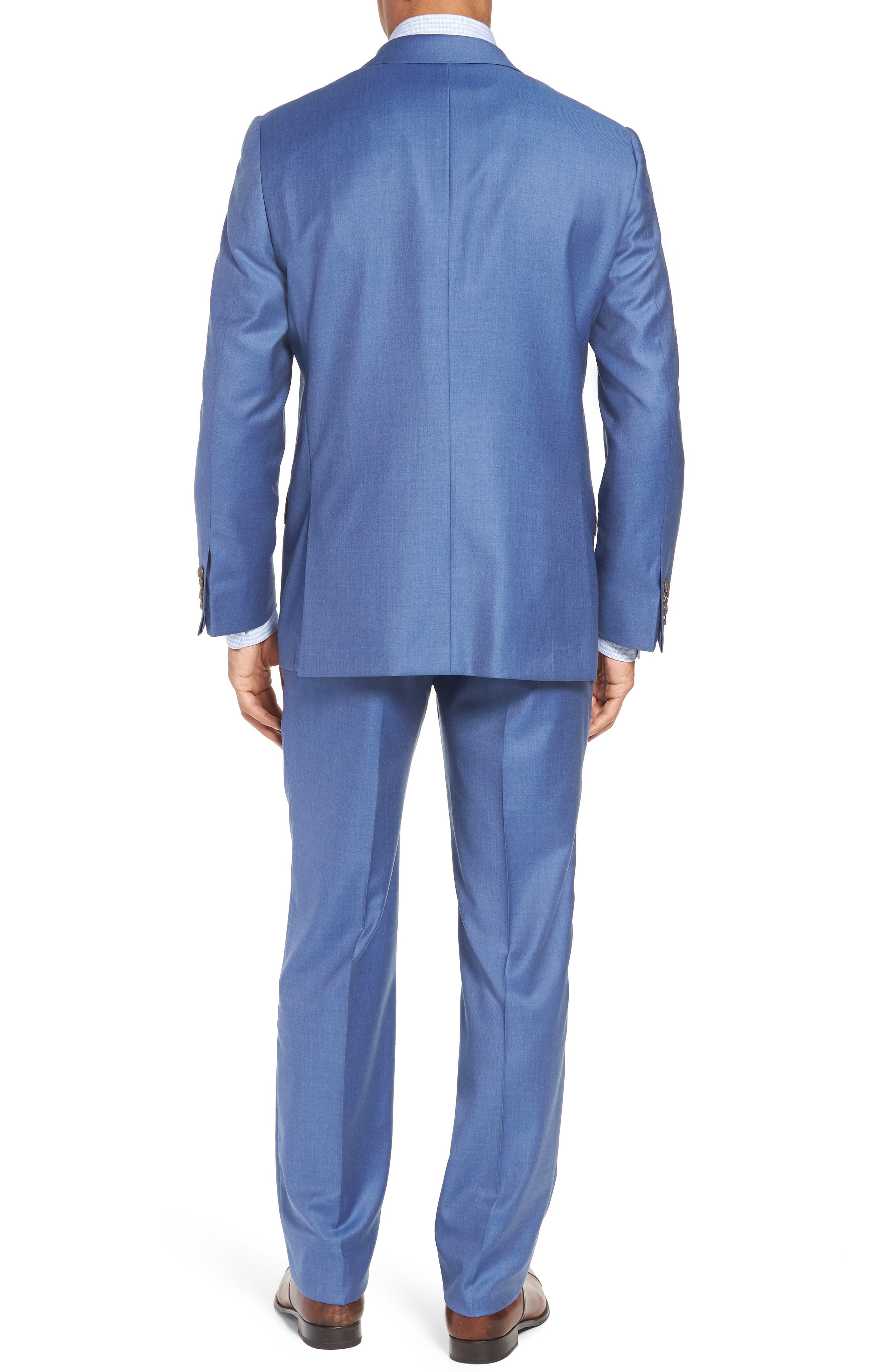Classic B Fit Solid Wool Suit,                             Alternate thumbnail 2, color,                             Light Blue Solid