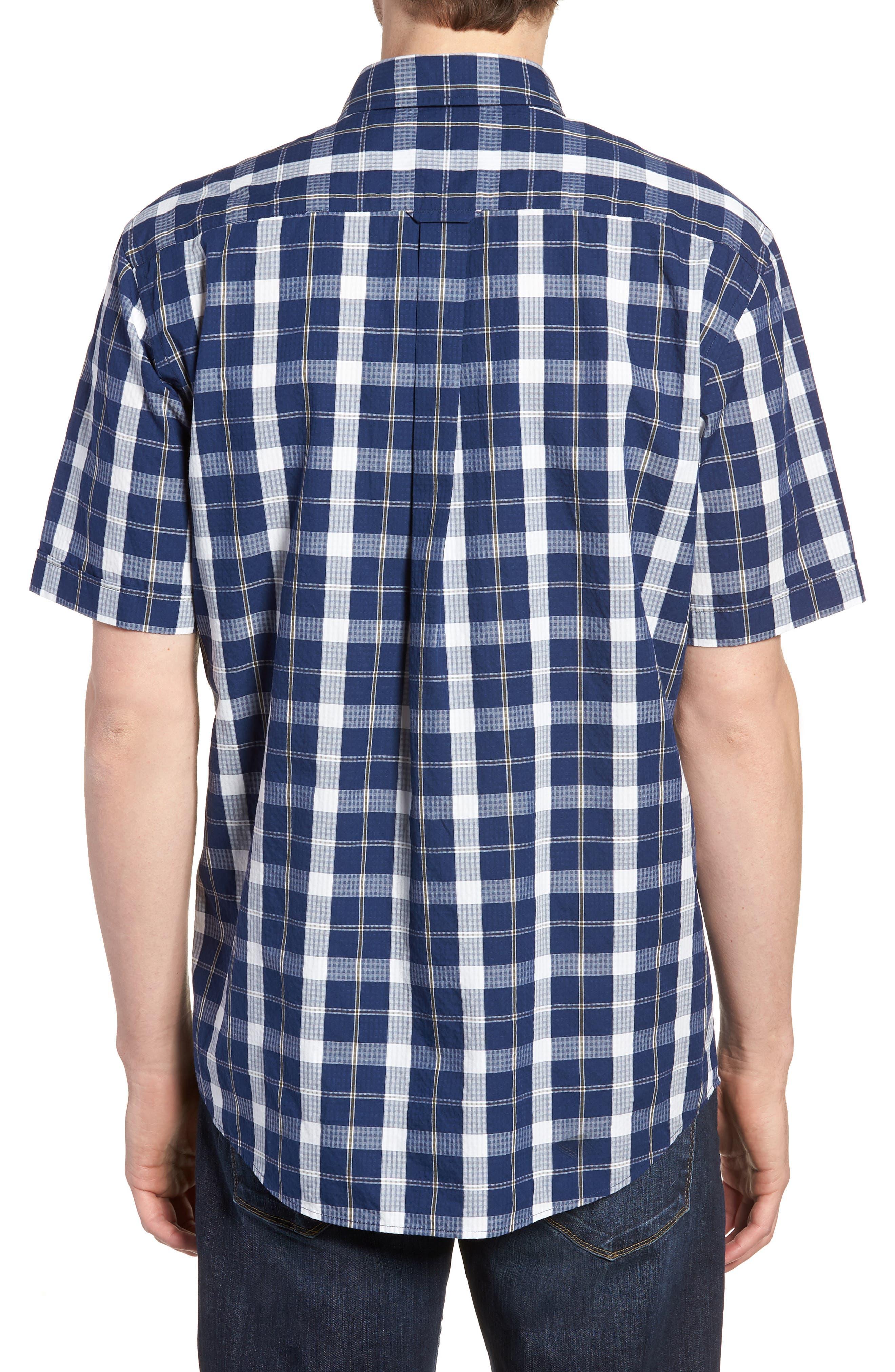 Bradford Regular Fit Sport Shirt,                             Alternate thumbnail 3, color,                             Navy