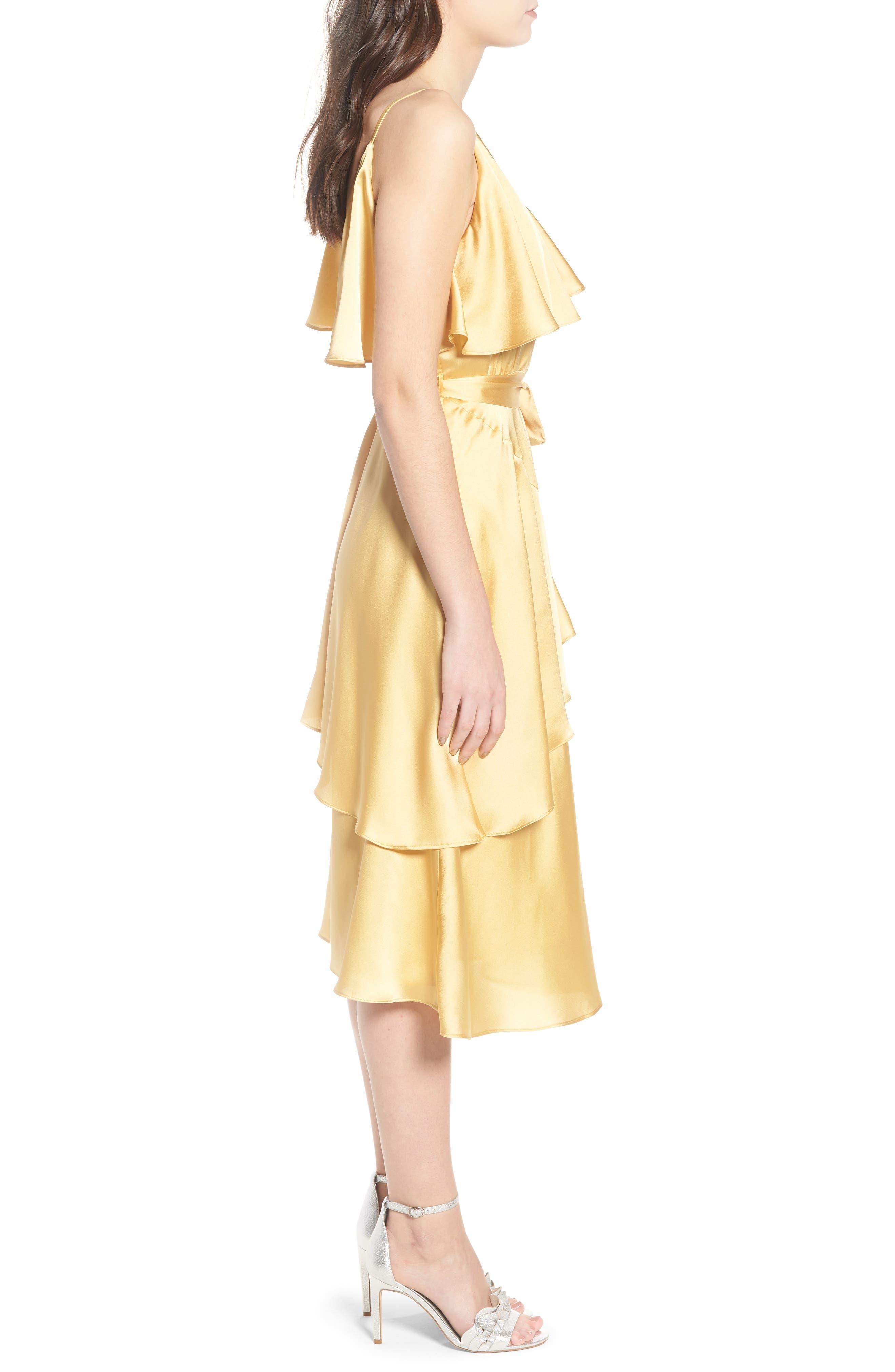 Deconstructed Tea Dress,                             Alternate thumbnail 4, color,                             Yellow