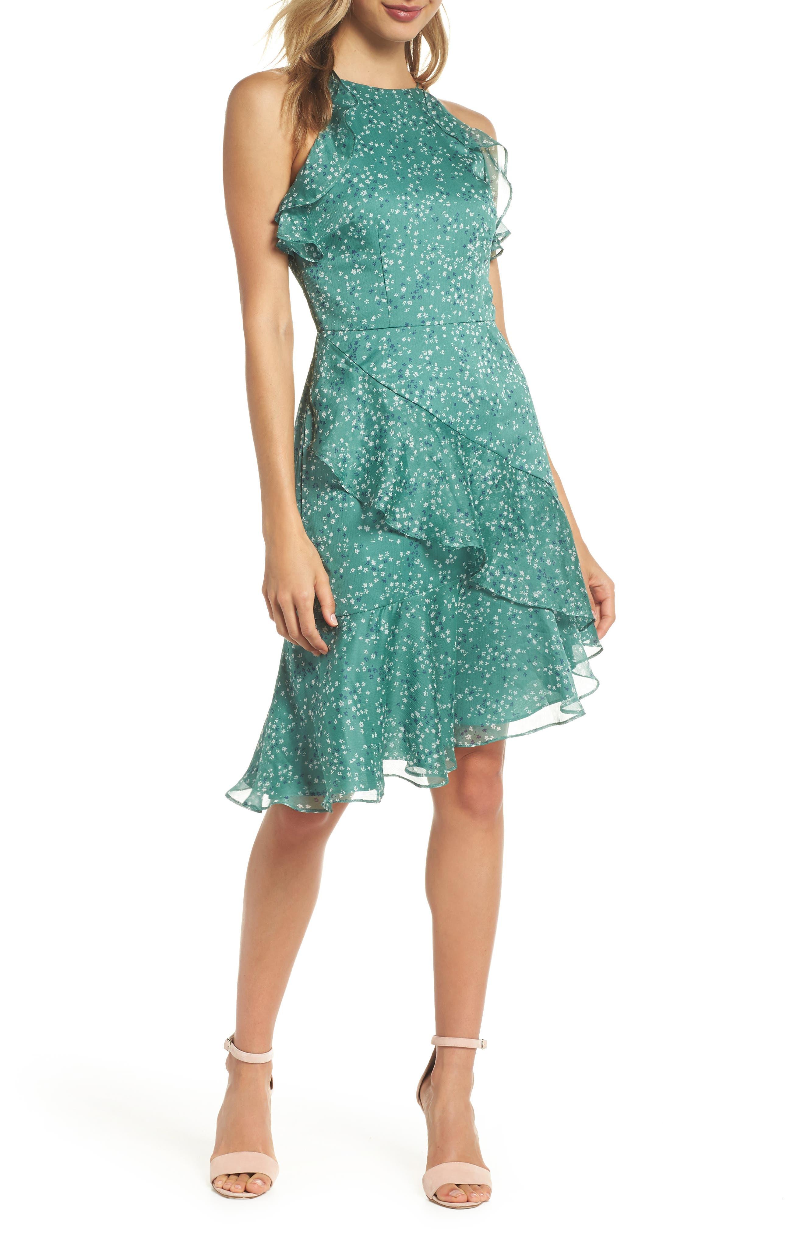 Keepsake the Label Genesis Asymmetrical Ruffle Party Dress