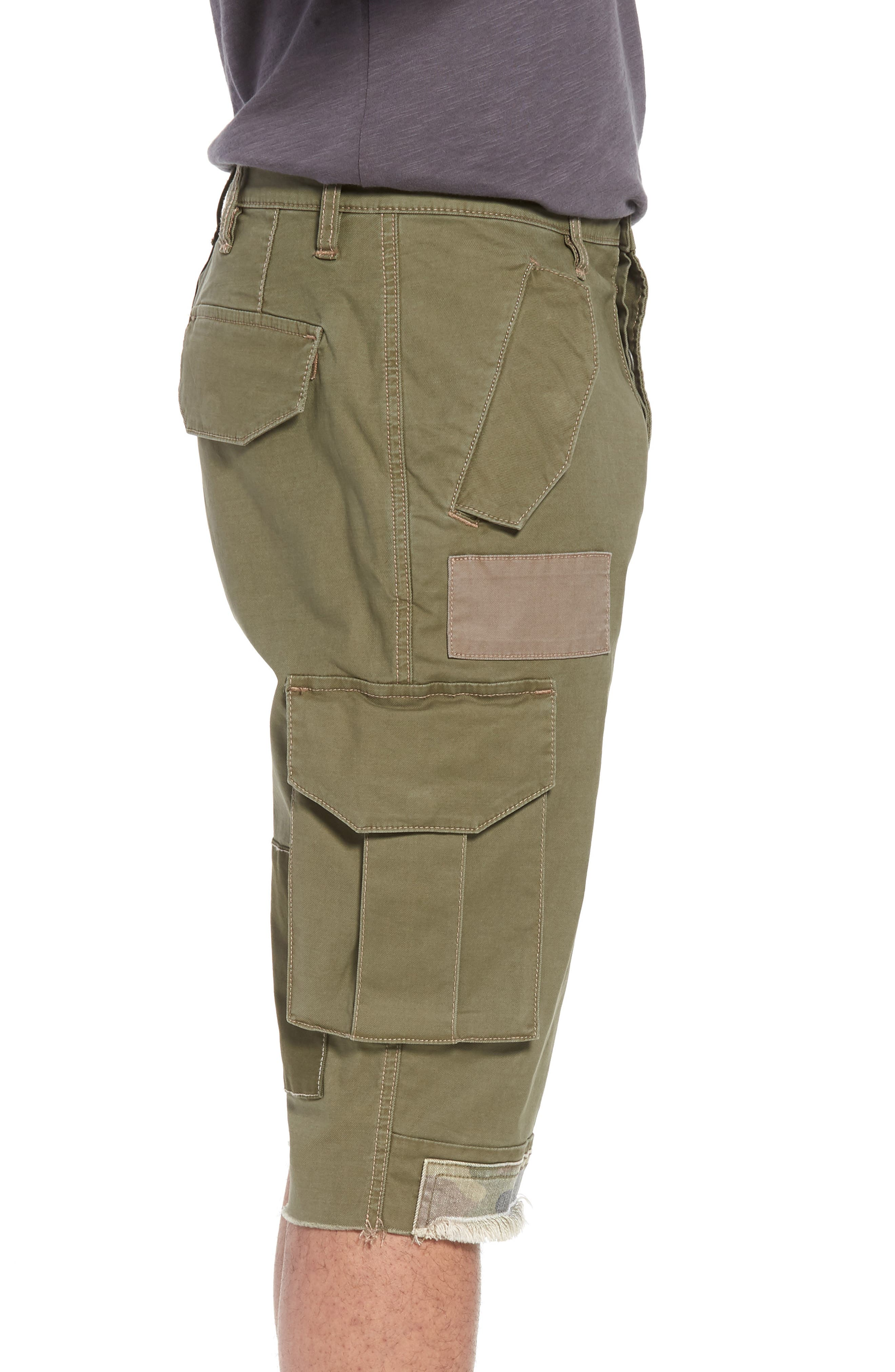 Slim Fit Cargo Shorts,                             Alternate thumbnail 3, color,                             Army Green 2