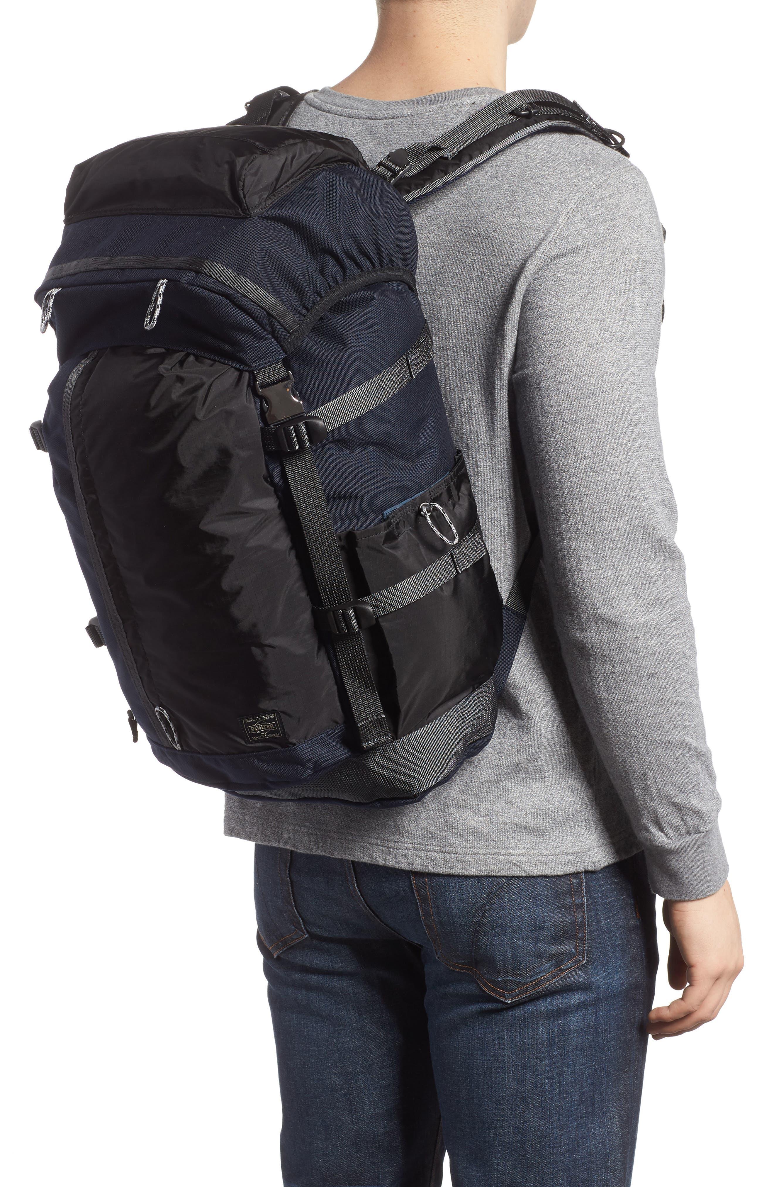 Porter-Yoshida & Co. Hype Backpack,                             Alternate thumbnail 2, color,                             Navy/ Black