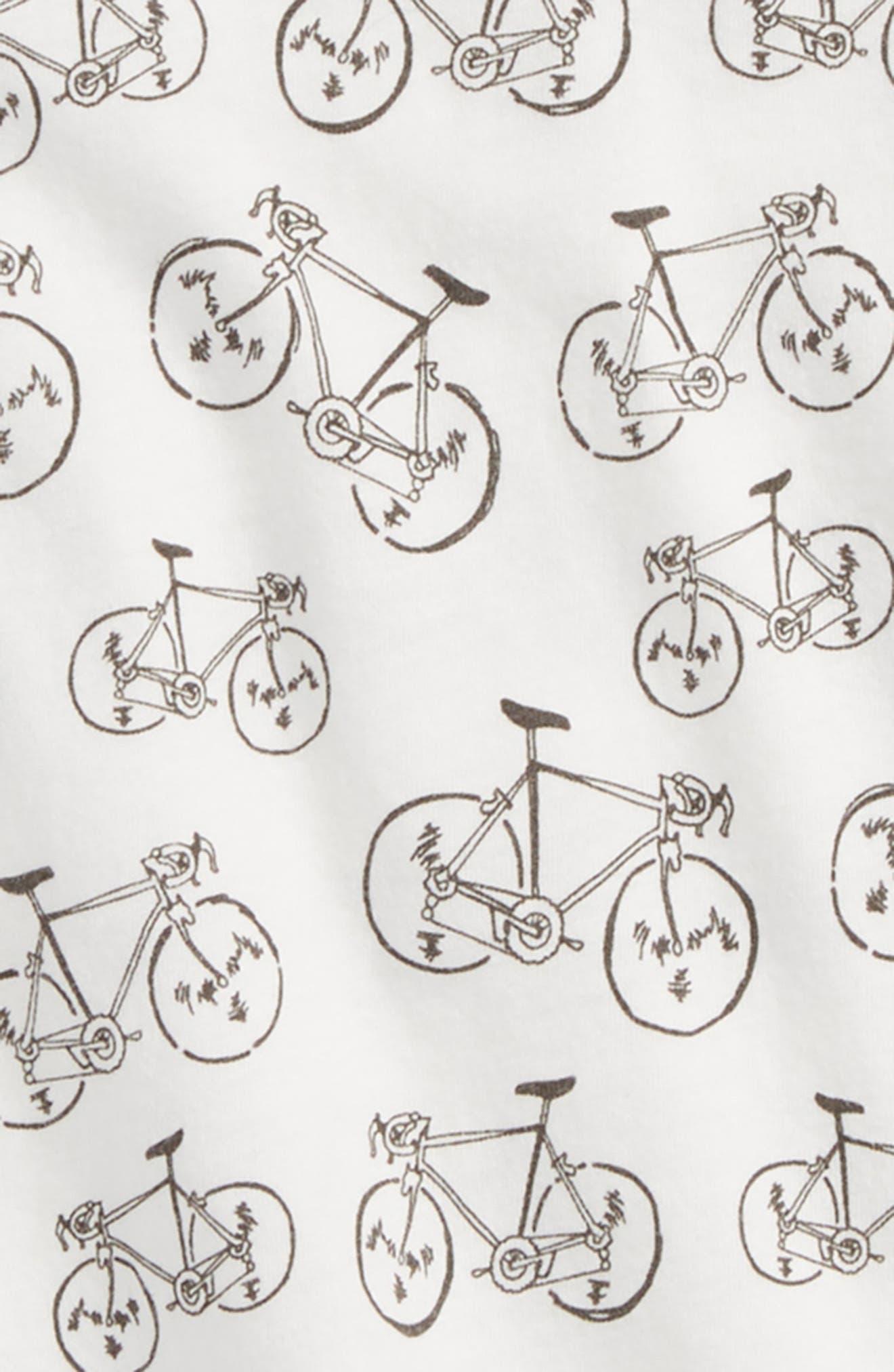 Bike Print T-Shirt,                             Alternate thumbnail 2, color,                             Ivory