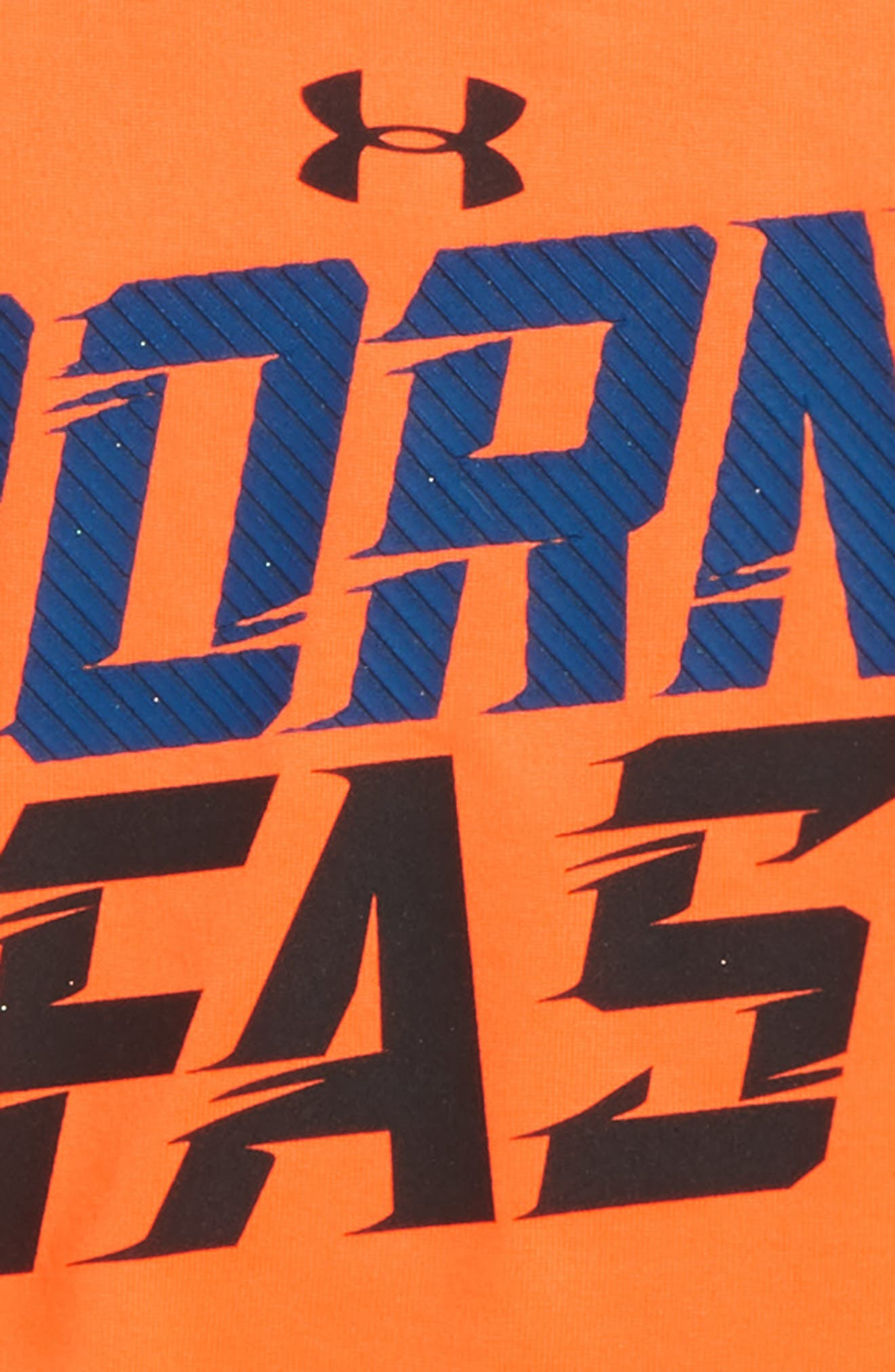 Born Fast HeatGear<sup>®</sup> T-Shirt,                             Alternate thumbnail 2, color,                             Magma Orange