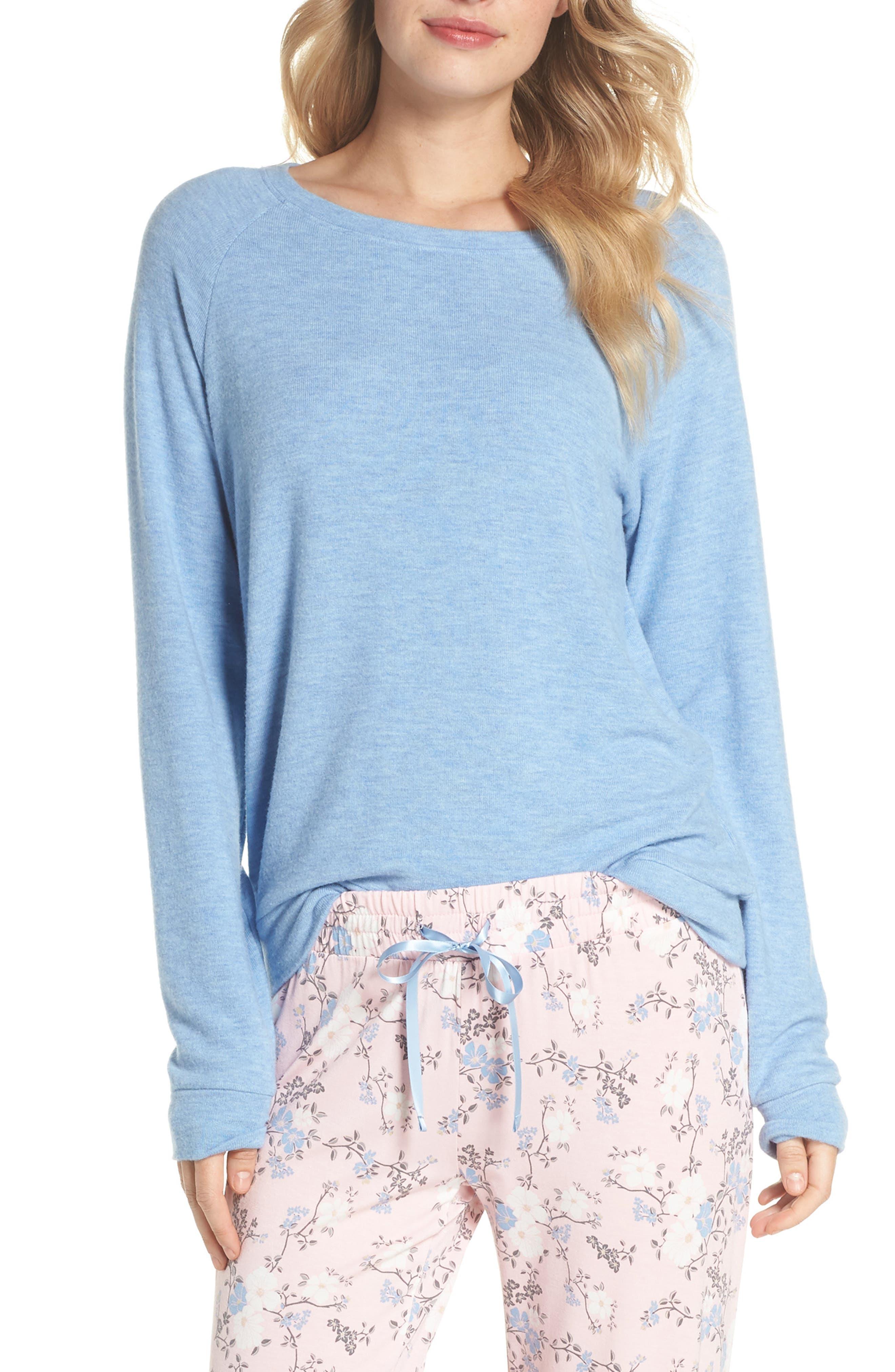 Peachy Pajama Shirt,                             Main thumbnail 1, color,                             Blue