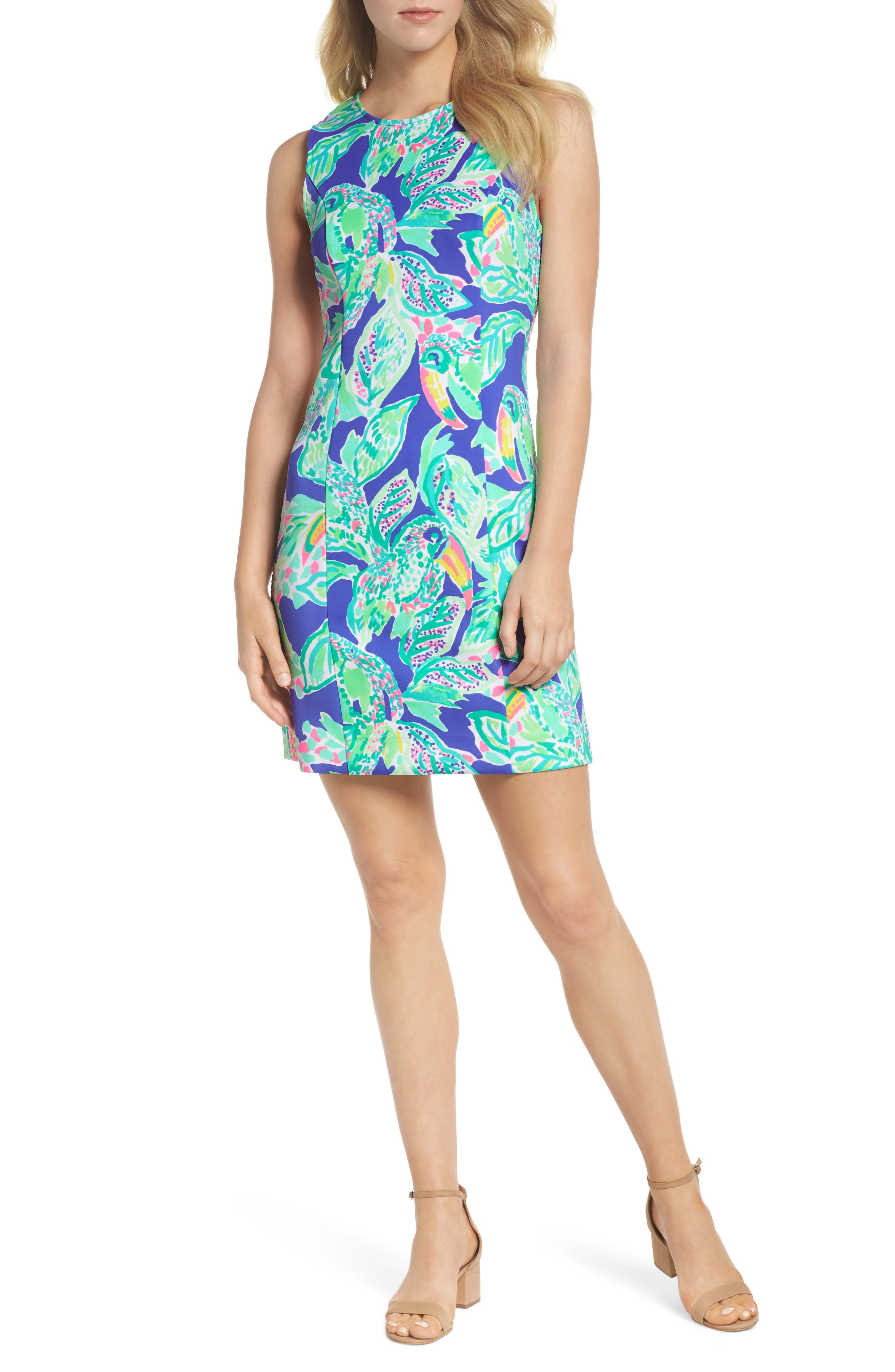 Mila Sheath Dress,                         Main,                         color, Beckon Blue Wake Up Call
