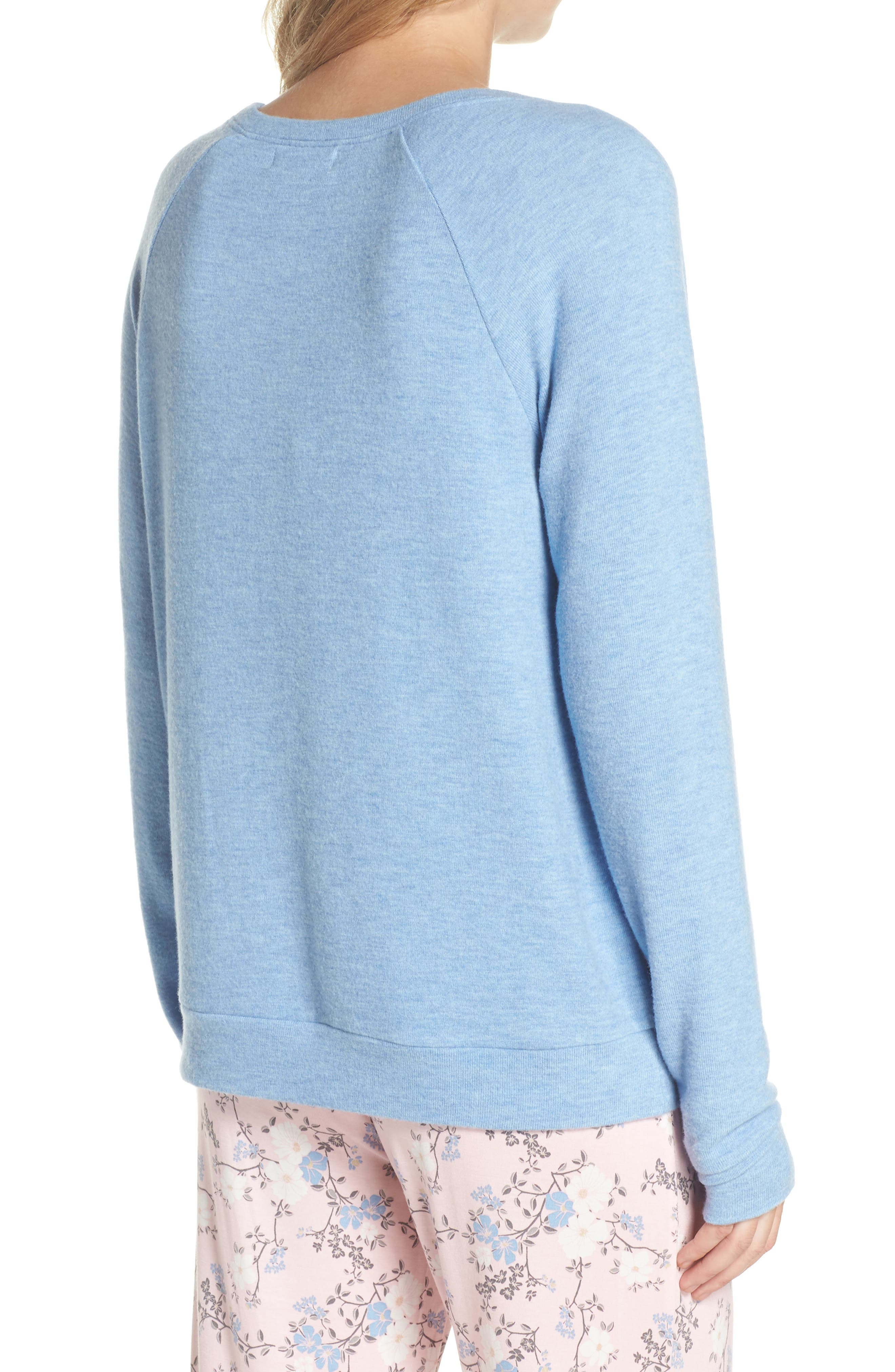 Peachy Pajama Shirt,                             Alternate thumbnail 2, color,                             Blue