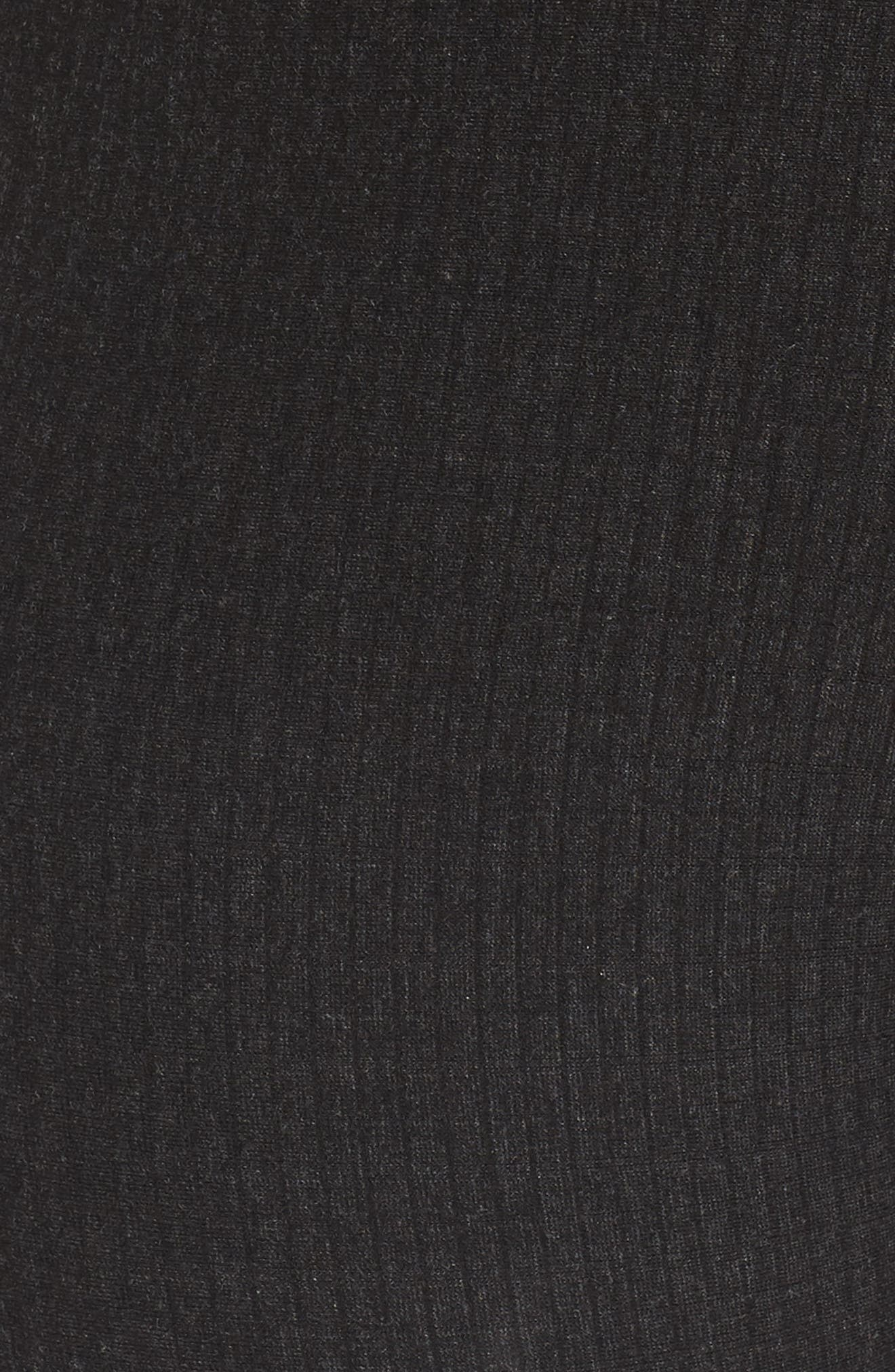 Rib Flare Leggings,                             Alternate thumbnail 5, color,                             Charcoal