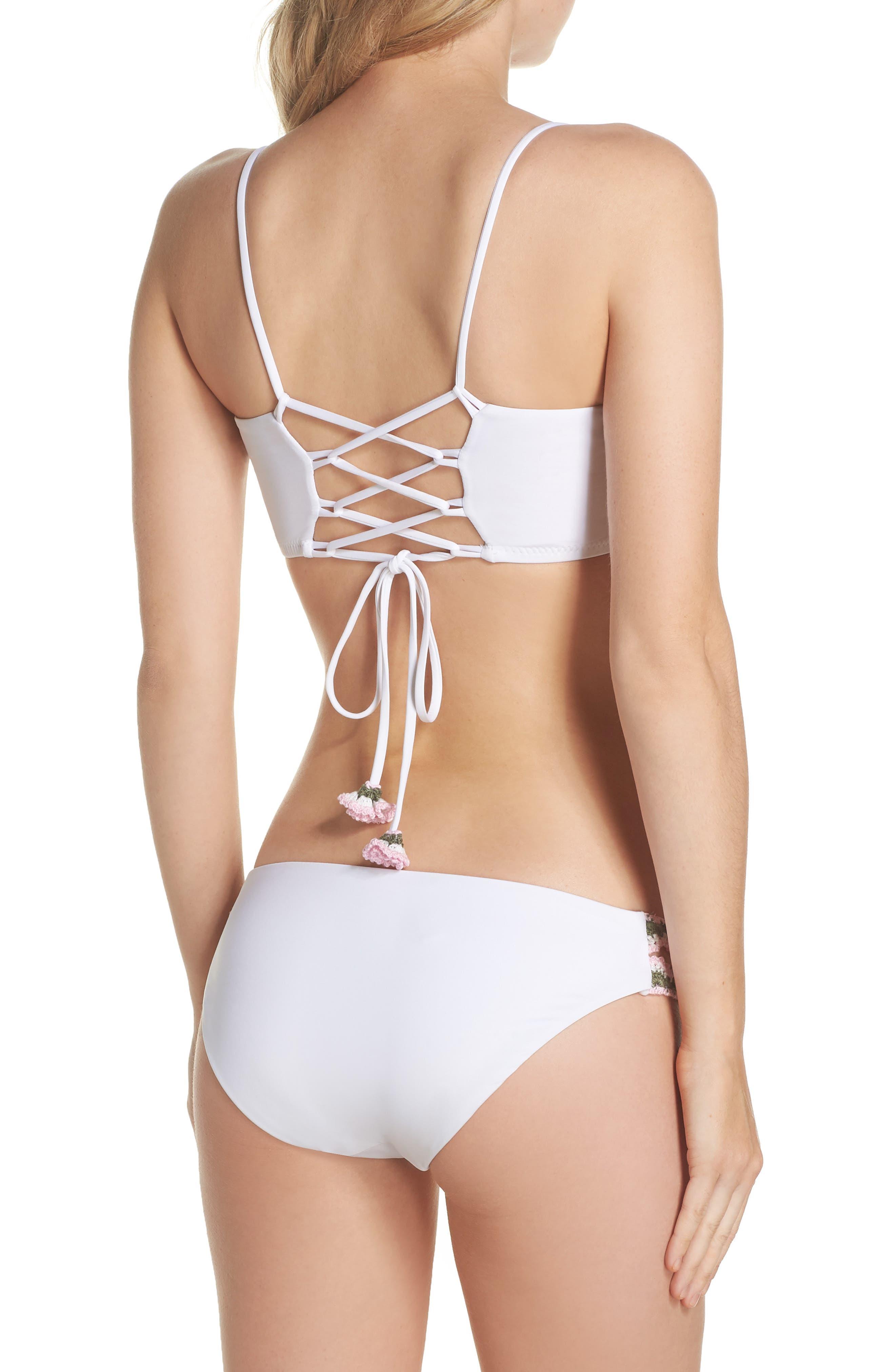 Medina Bandeau Bikini Top,                             Alternate thumbnail 6, color,                             White