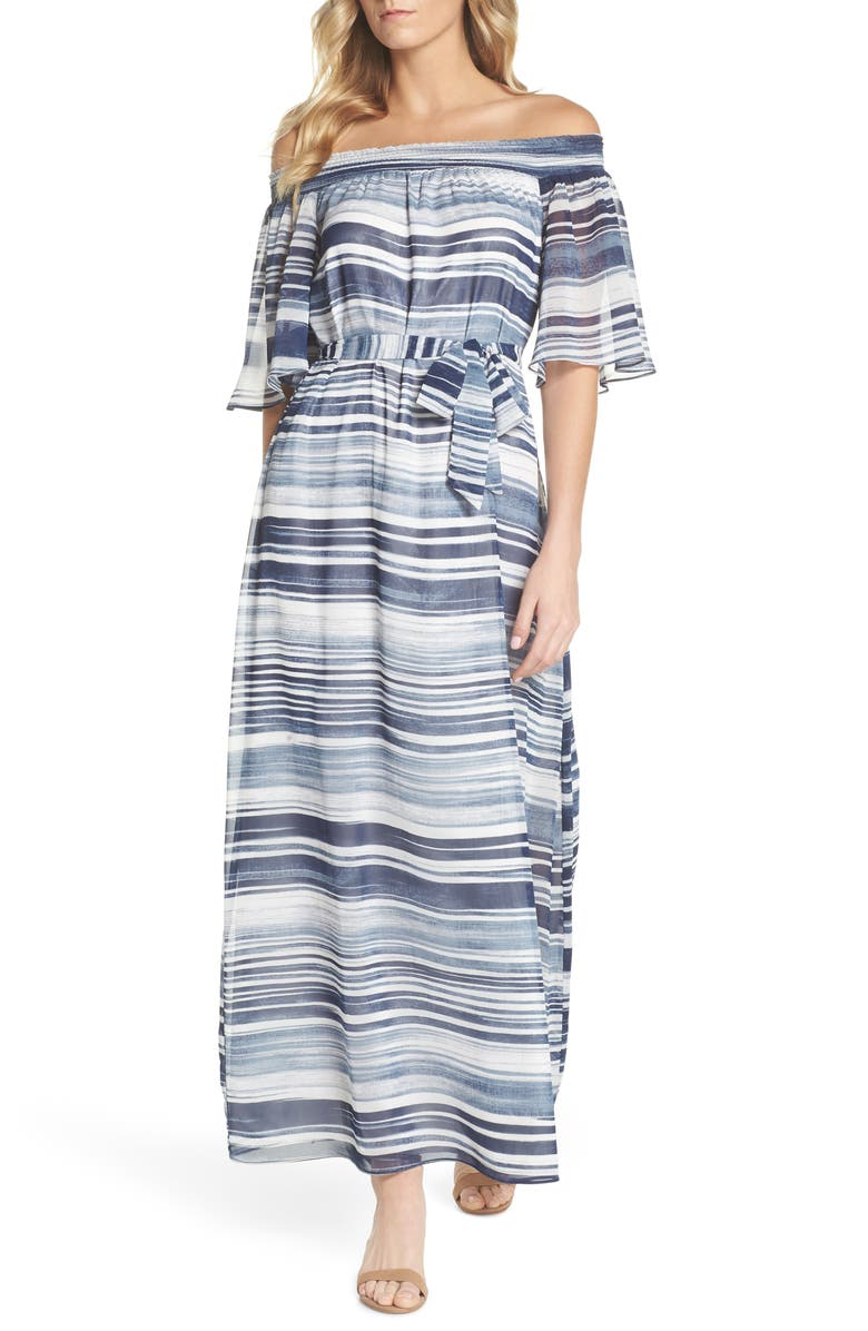 San Onofre Off the Shoulder Maxi Dress