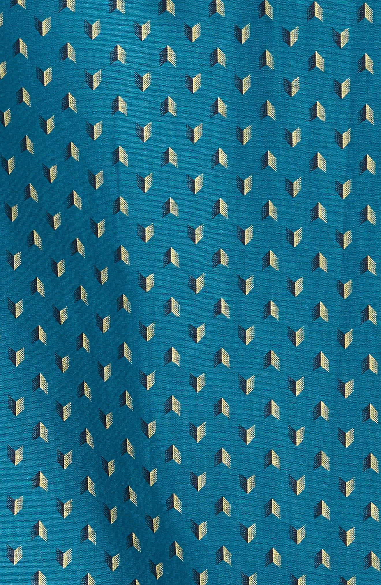 Arrowed Woven Shirt,                             Alternate thumbnail 5, color,                             Blue Tide