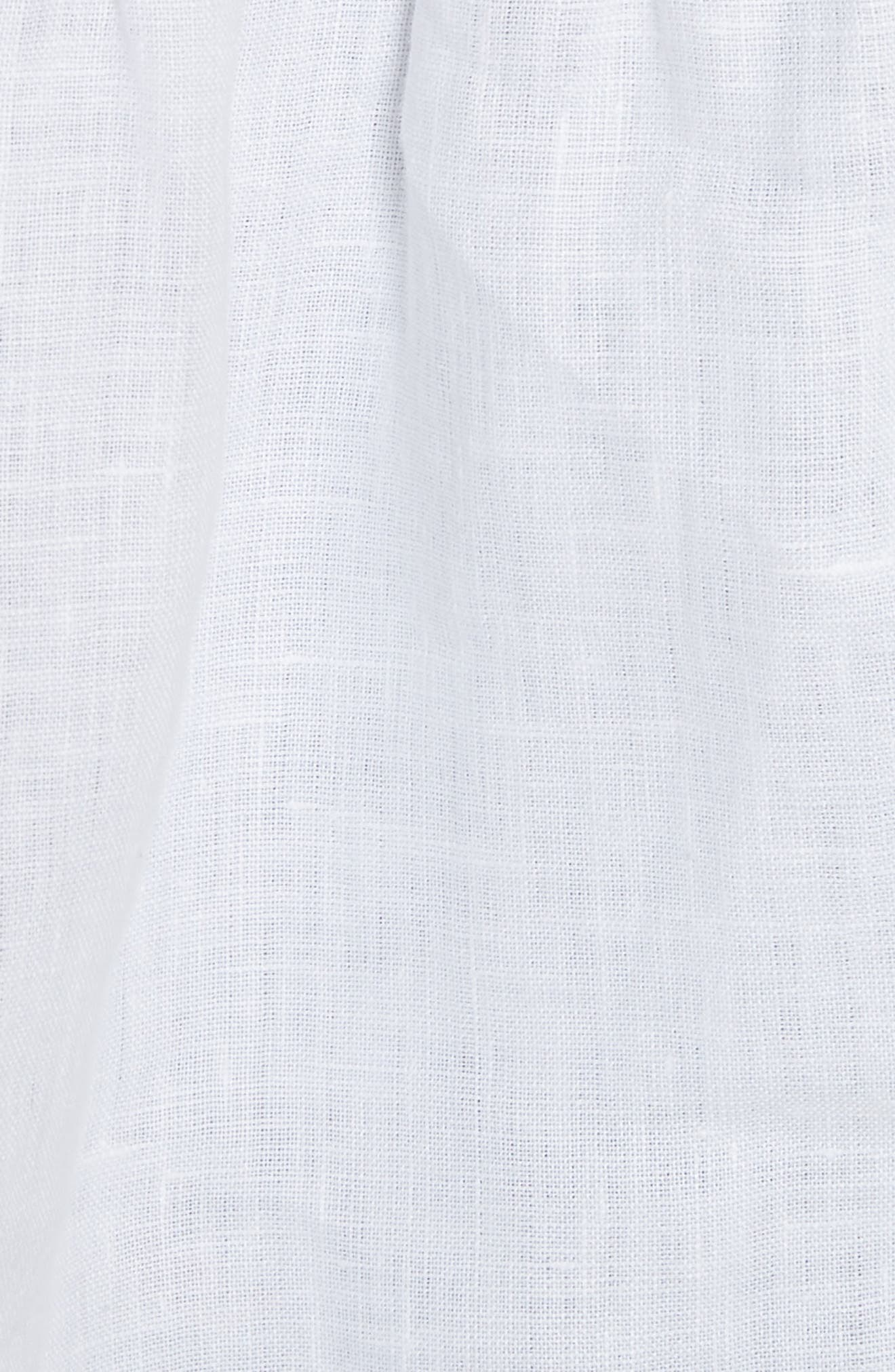 Embroidered Linen Tank,                             Alternate thumbnail 5, color,                             Milk