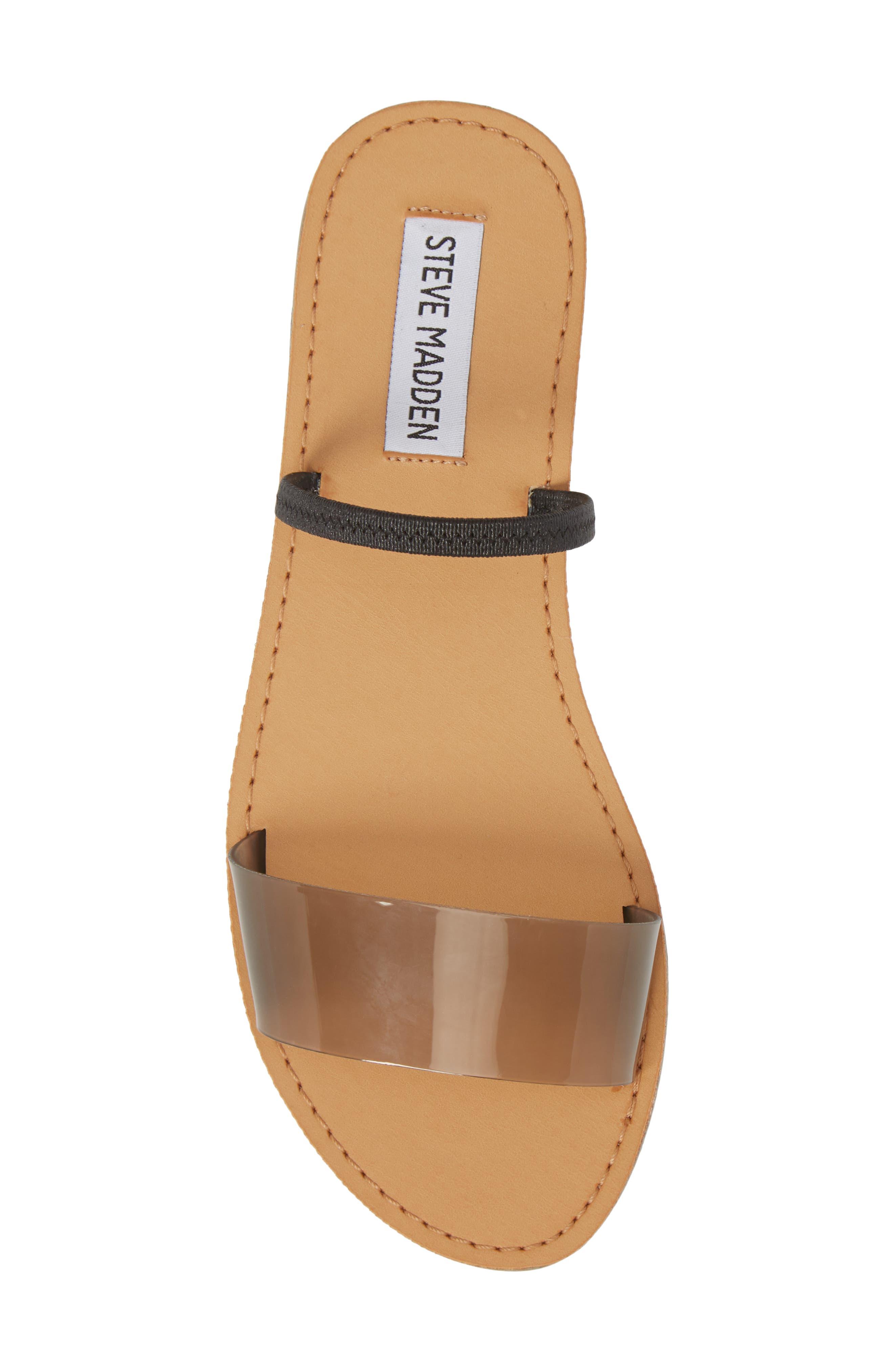 Dasha Strappy Slide Sandal,                             Alternate thumbnail 5, color,                             Smoke