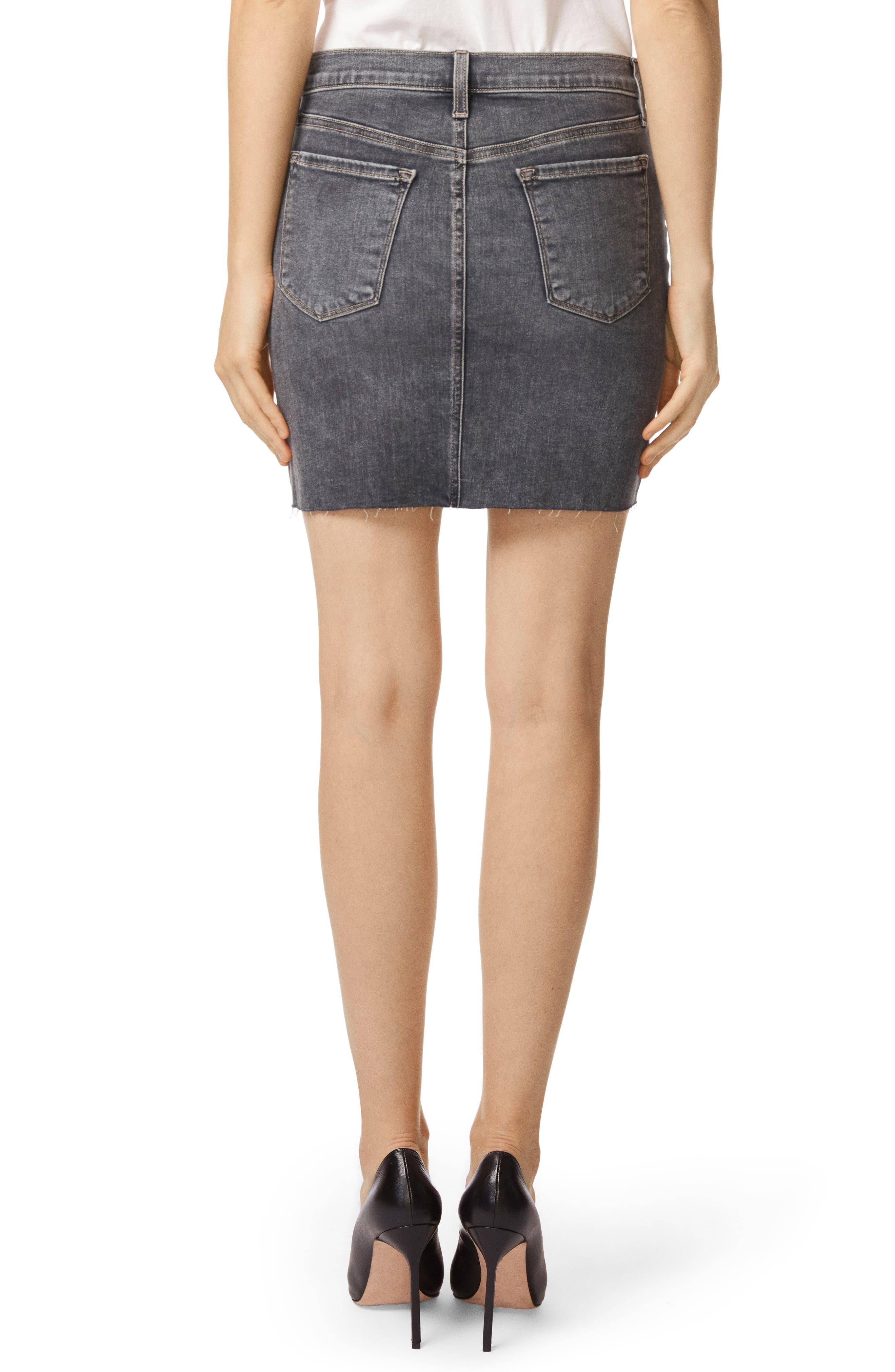 Lyla Raw Hem Miniskirt,                             Alternate thumbnail 2, color,                             Obscura