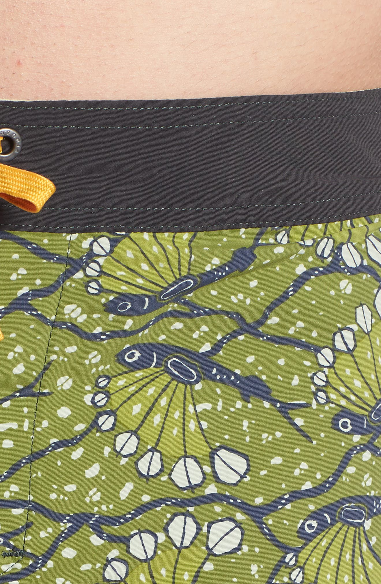 Wavefarer Board Shorts,                             Alternate thumbnail 4, color,                             Hexy Fish Sprouted Green