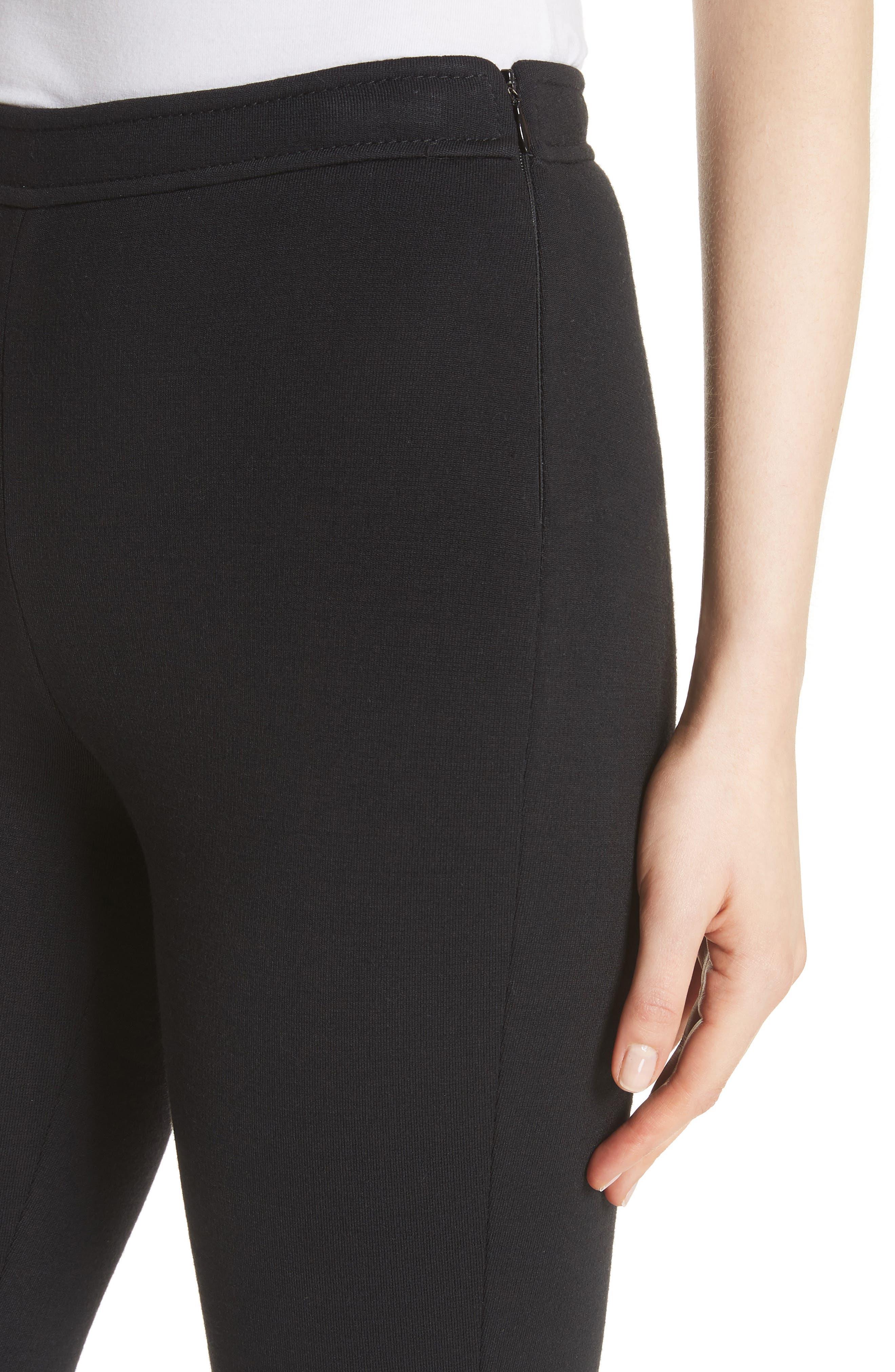 Alexa Milano Knit Pants,                             Alternate thumbnail 4, color,                             Caviar