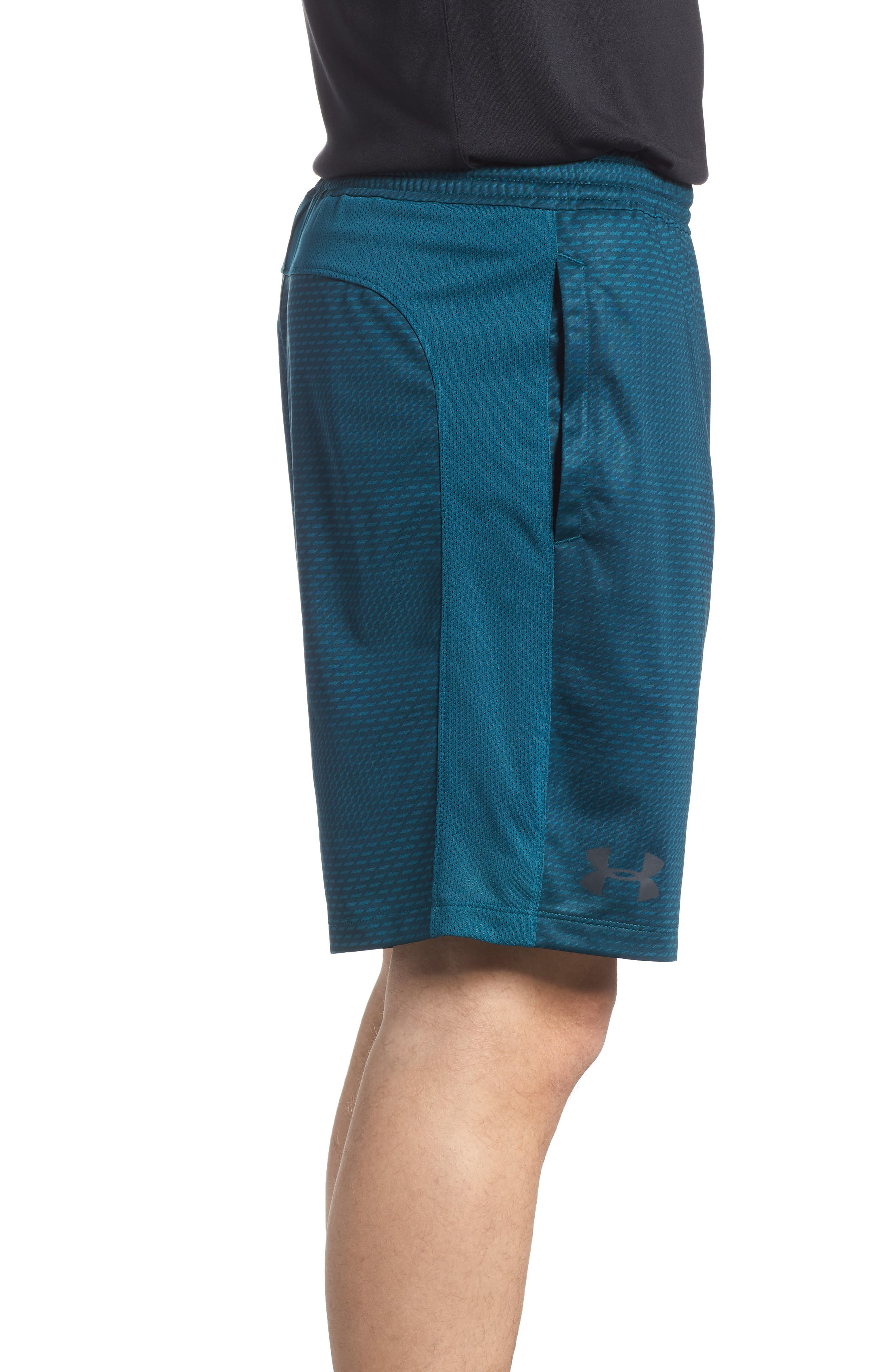 Raid 2.0 Classic Fit Shorts,                             Alternate thumbnail 3, color,                             Tourmaline Teal/ Stealth Gray