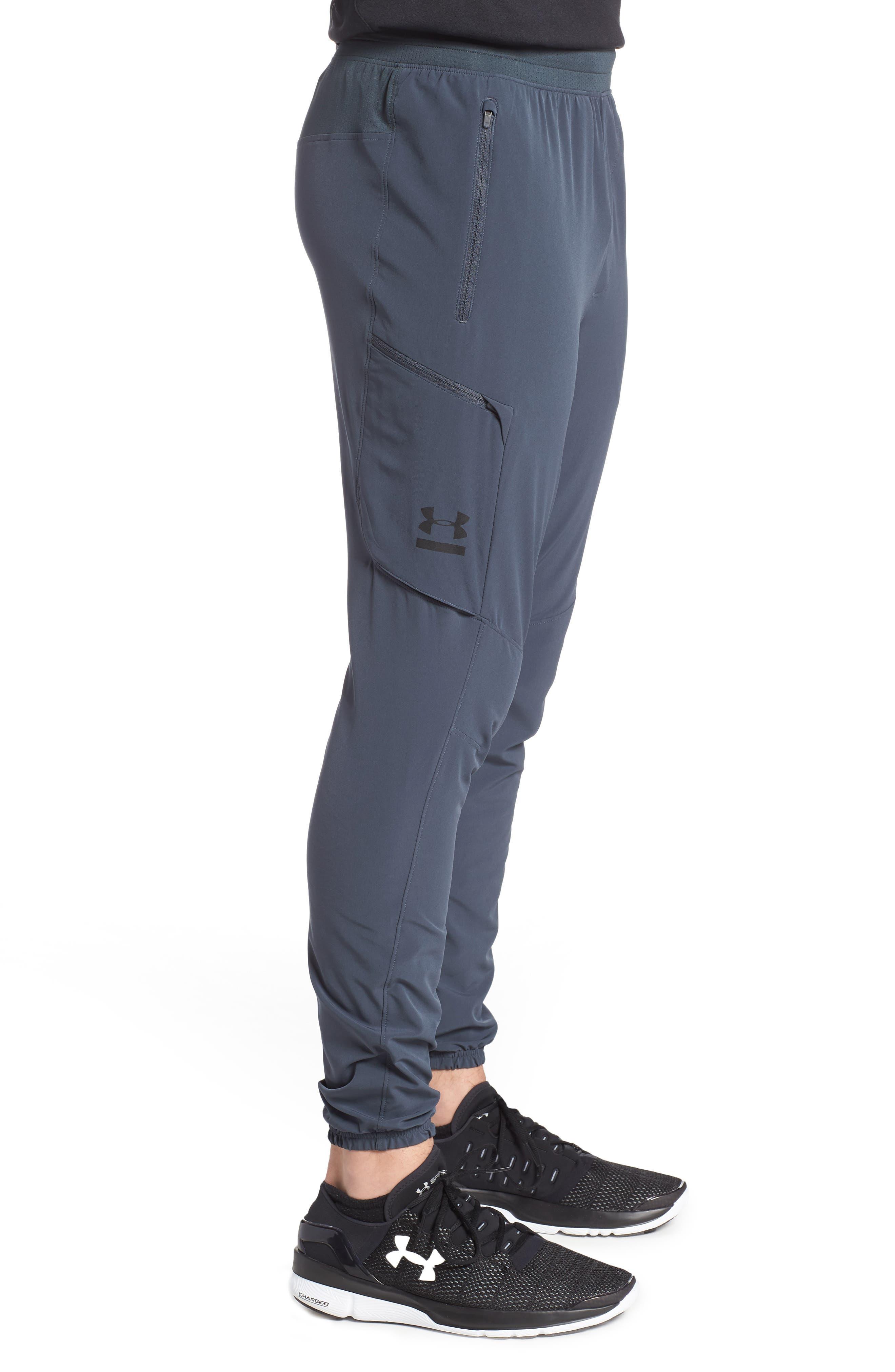 Perpetual Cargo Jogger Pants,                             Alternate thumbnail 3, color,                             Stealth Gray/ Black