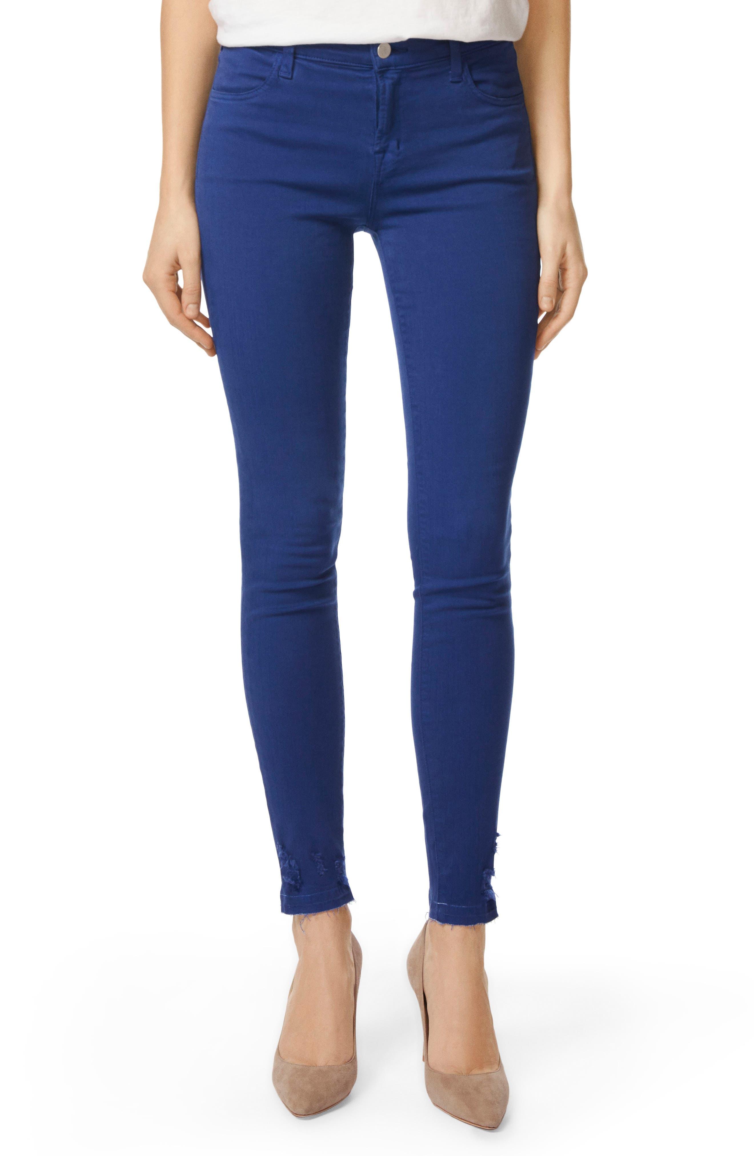 620 Mid Rise Super Skinny Jeans,                             Main thumbnail 1, color,                             Electric Sea Destruct