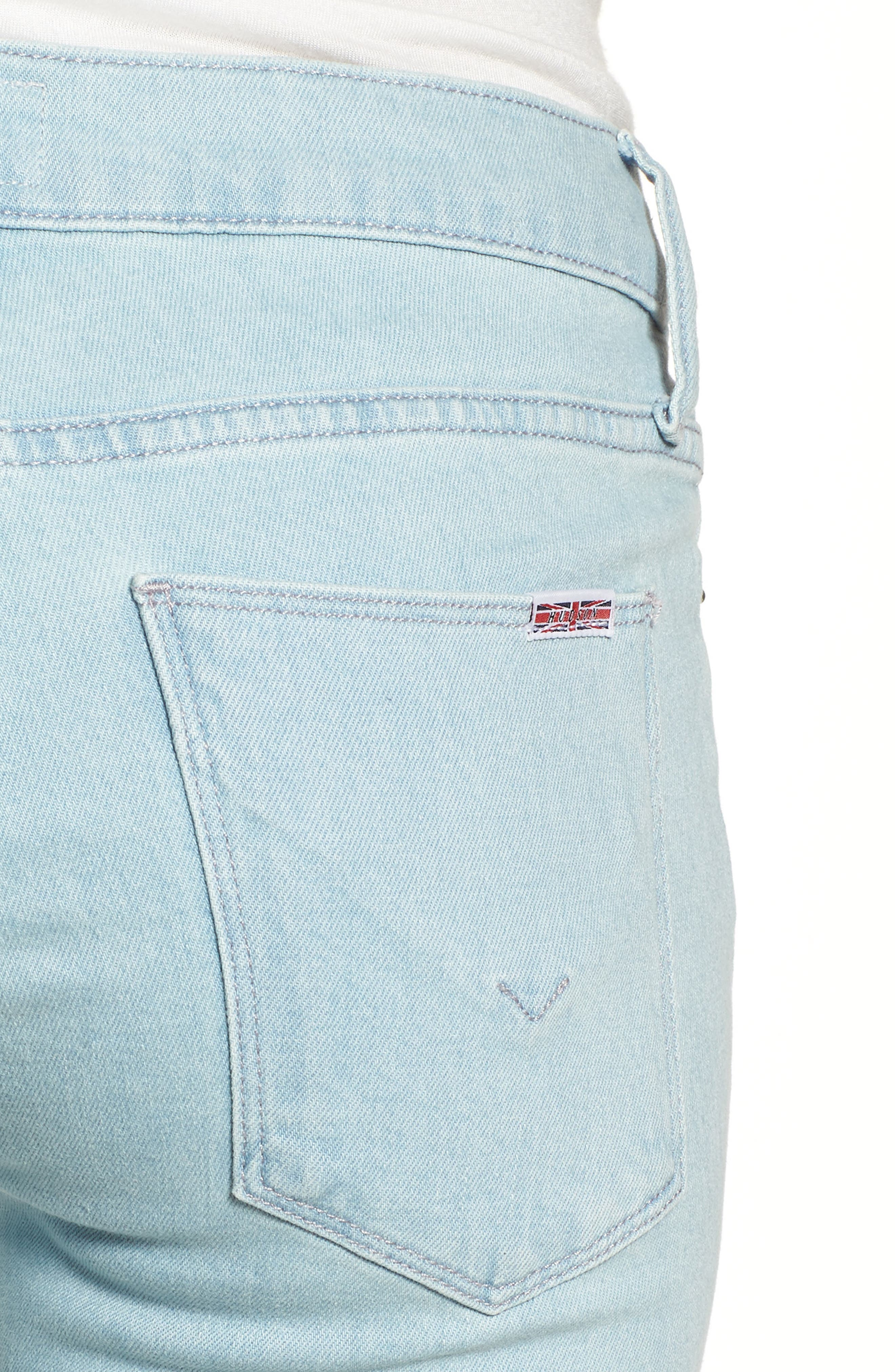Tally Crop Skinny Jeans,                             Alternate thumbnail 4, color,                             Sage Extract